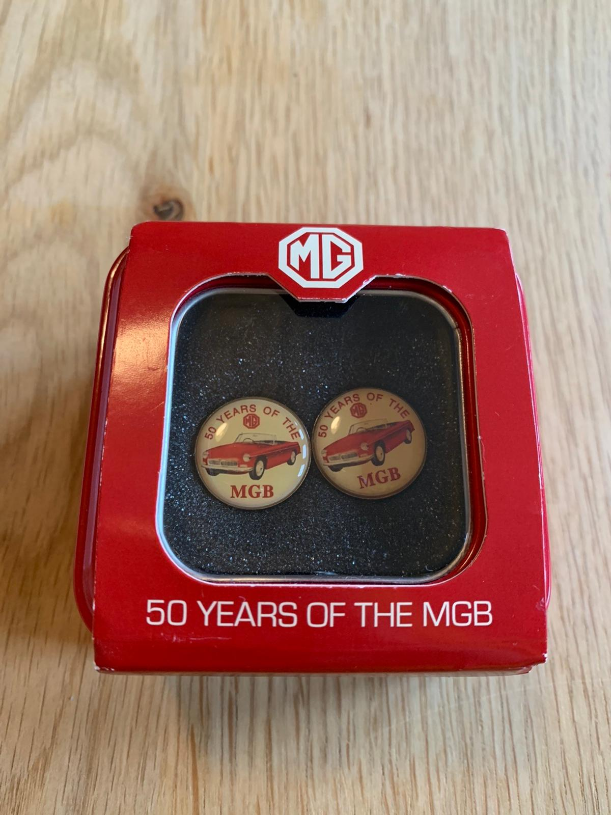 Brand new men's cufflinks - MG 50 Years Anniversary.  Collection only.
