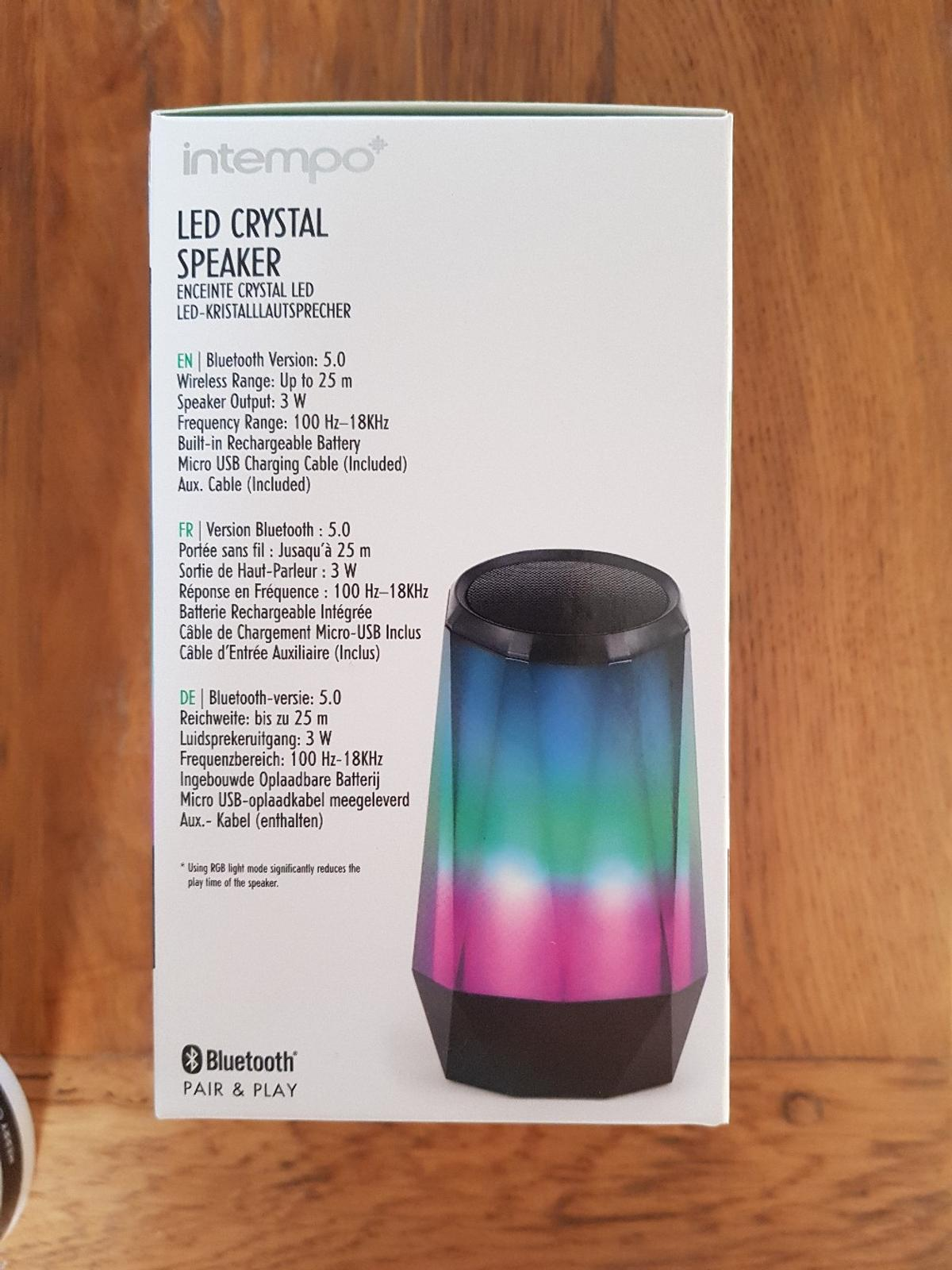 Brand new in packaging. crystal lights LED. Bring colour to music. See pics for spec