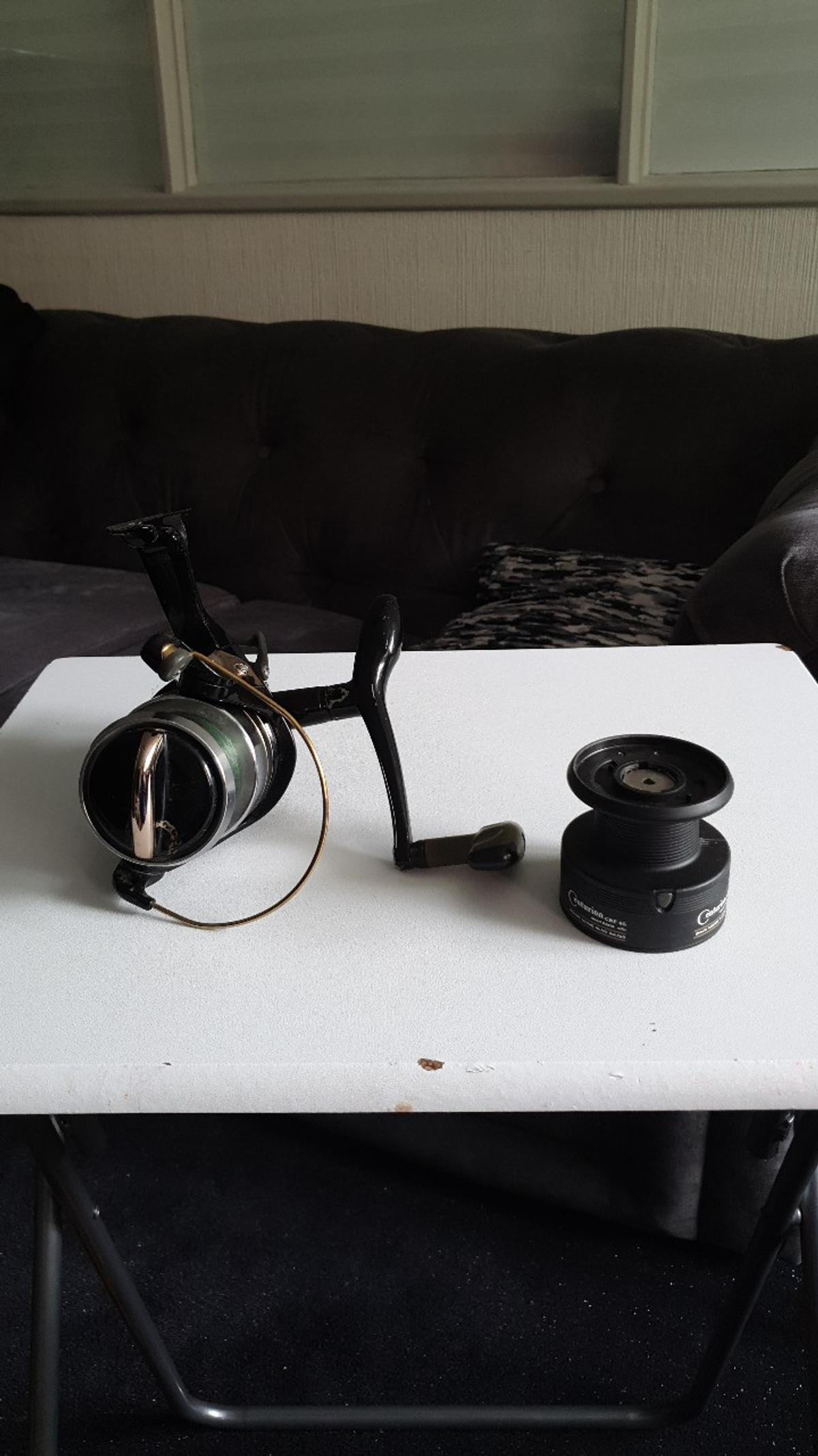 okuma big pit fishing reel used but still in great condition. comes with one extra spool. offers welcome