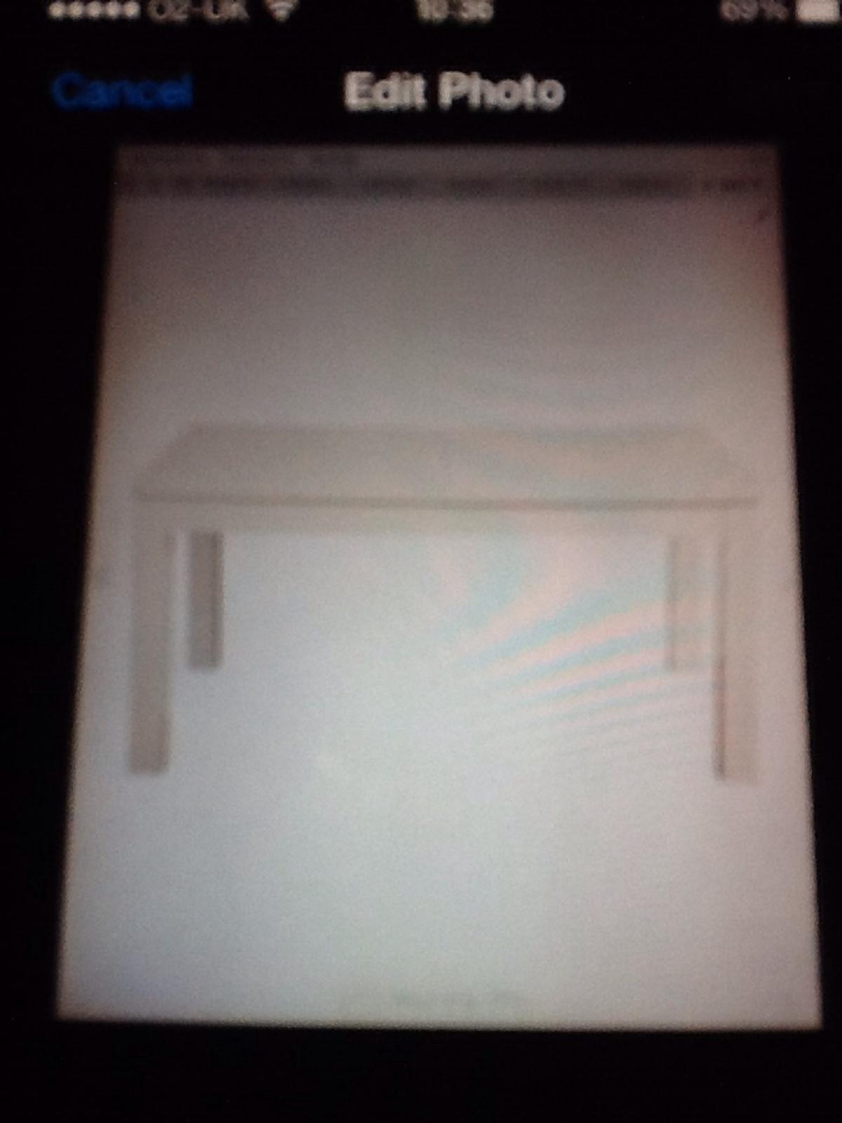 Brand new in box Adela table double white gloss extending table