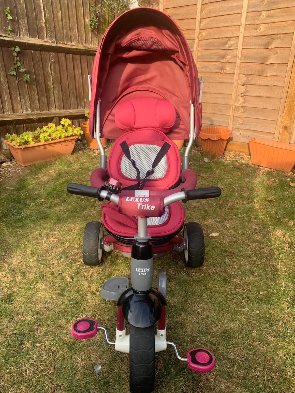Condition: as new, used for couple of months only, RRP 110. Smart trike 5 in 1, suitable for age of 6 months up to 4 years. It turns into a tricycle, rotating seat, hood, harness and 2 storage bags. Payment on collection only from N12 London