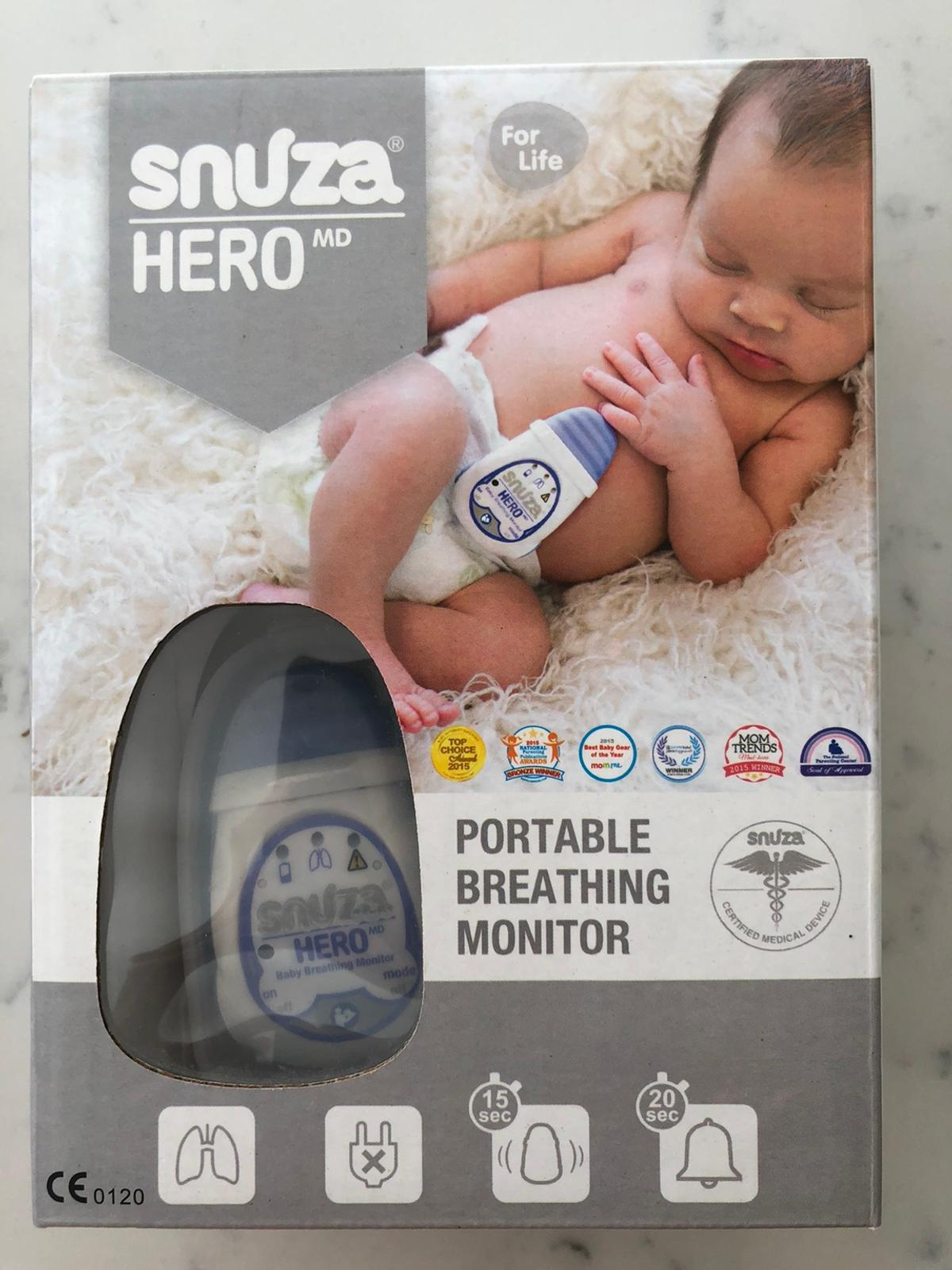 2 portable breathing monitors in original packaging with instructions.