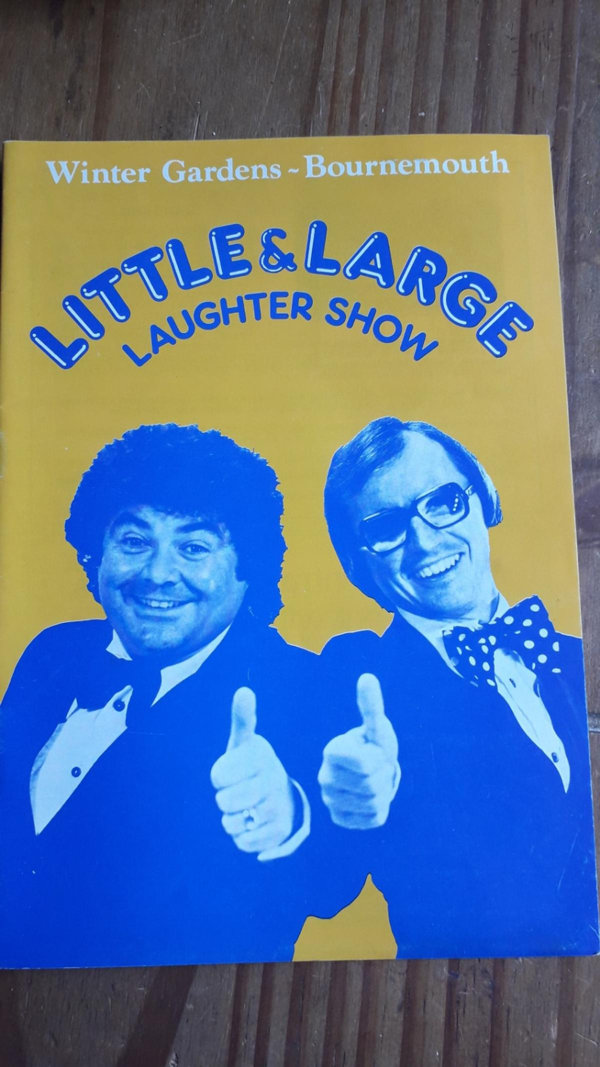 here is Little&Large laughter show 1980 signed by them both in good condition came from a auction where I won 200 programmes ect.  POST ONLY DUE TO VIRUS OUTBREAK contact for price  payment through paypal and through friends and family if you dont I will return money back to you