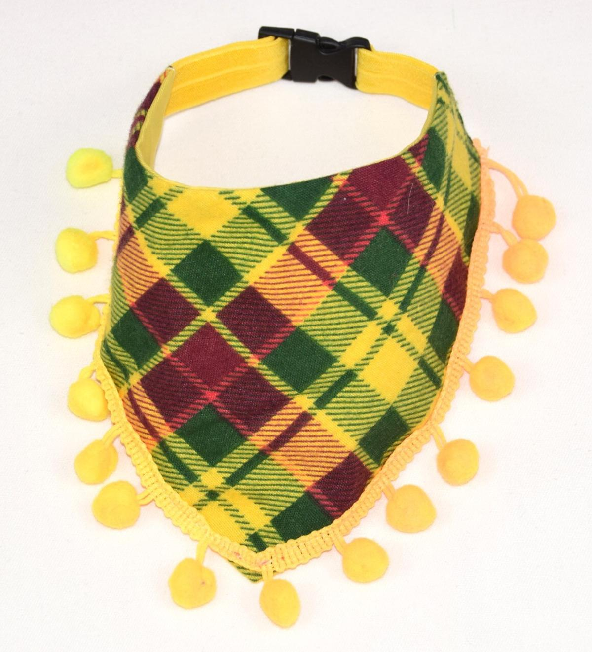Bright cute bandanas with pompons.