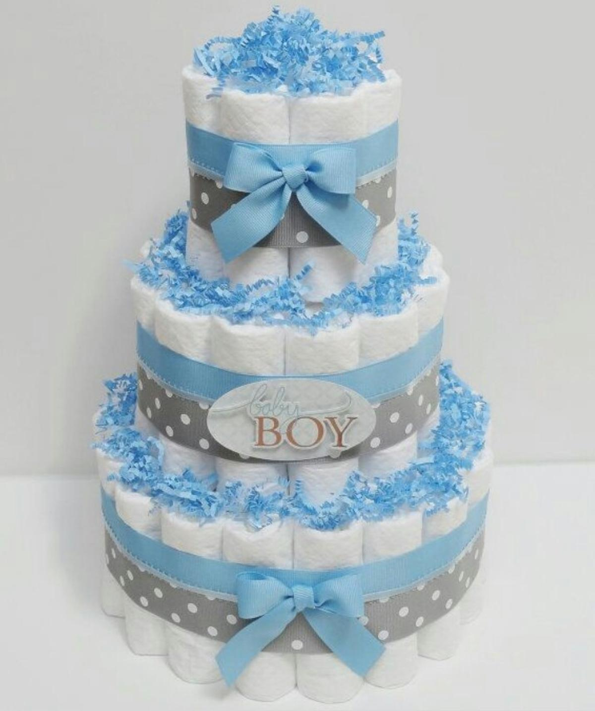 This is a cake with diapers. nice gift for baby boy B12