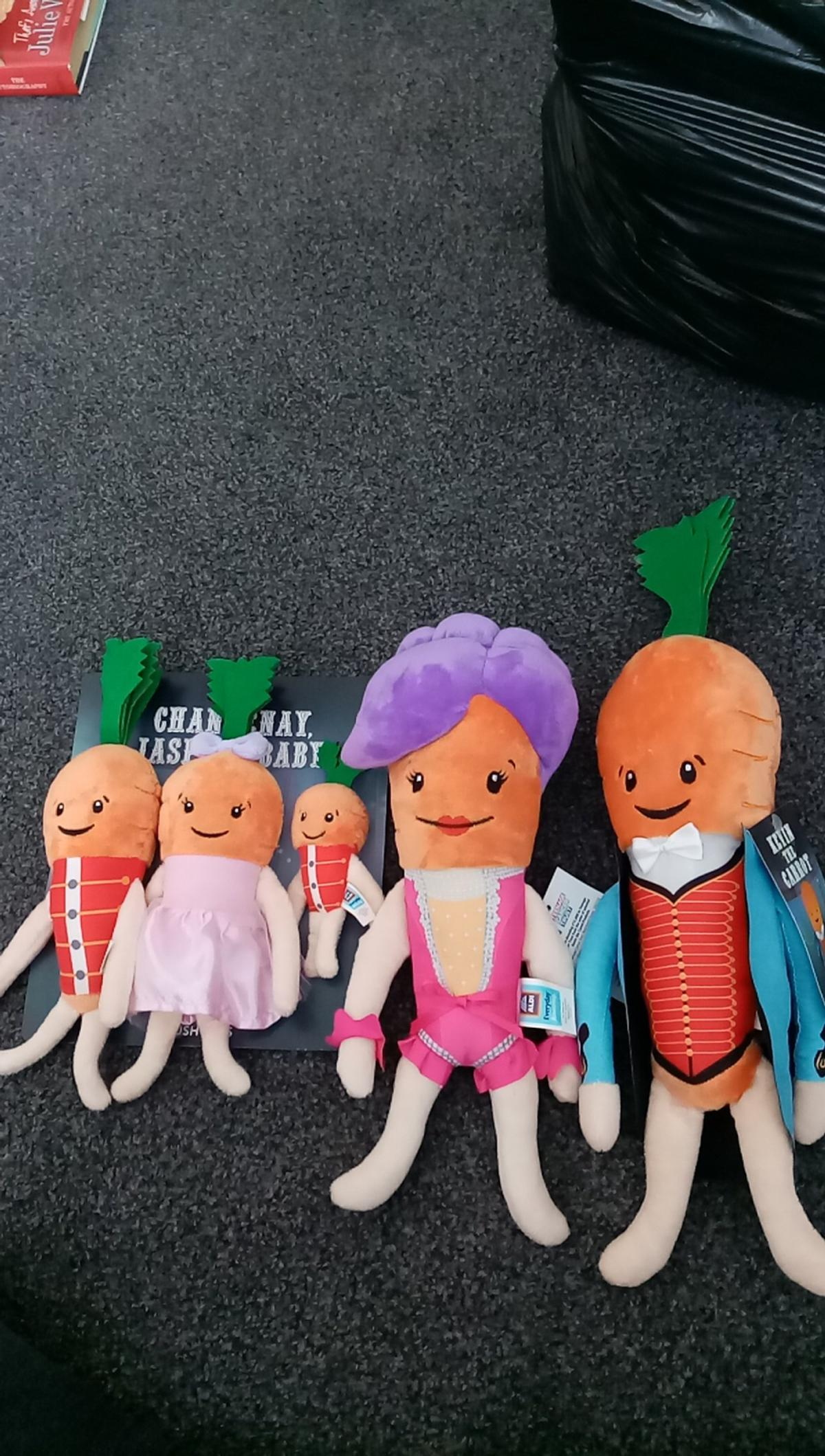 Kevin the carrot and his family from Aldi. All brand new with tags