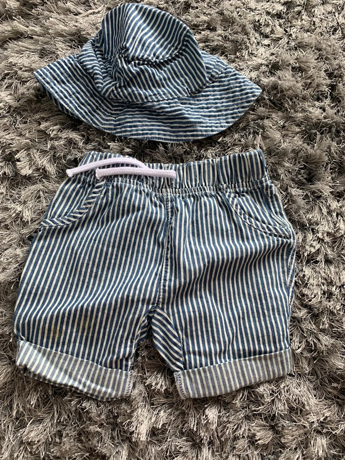 Hat and shorts set 6-9 months