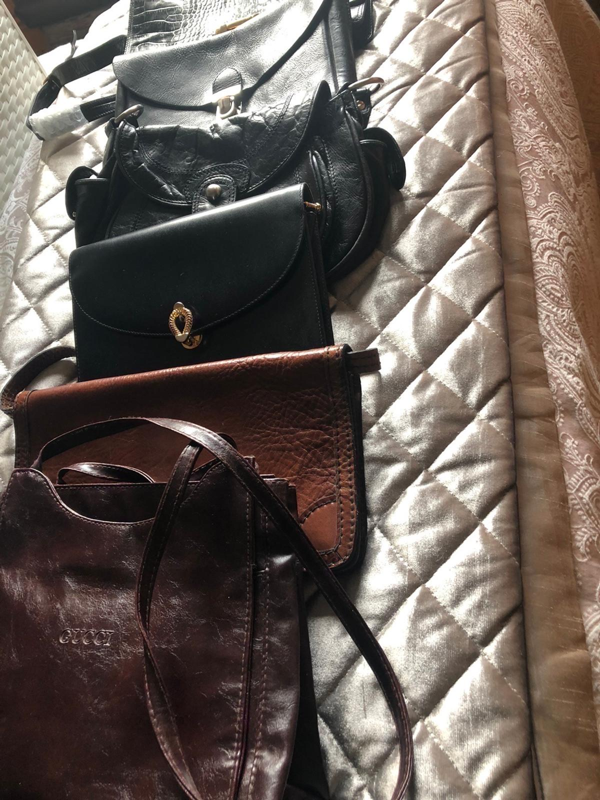 Leather handbags good condition buyer collects