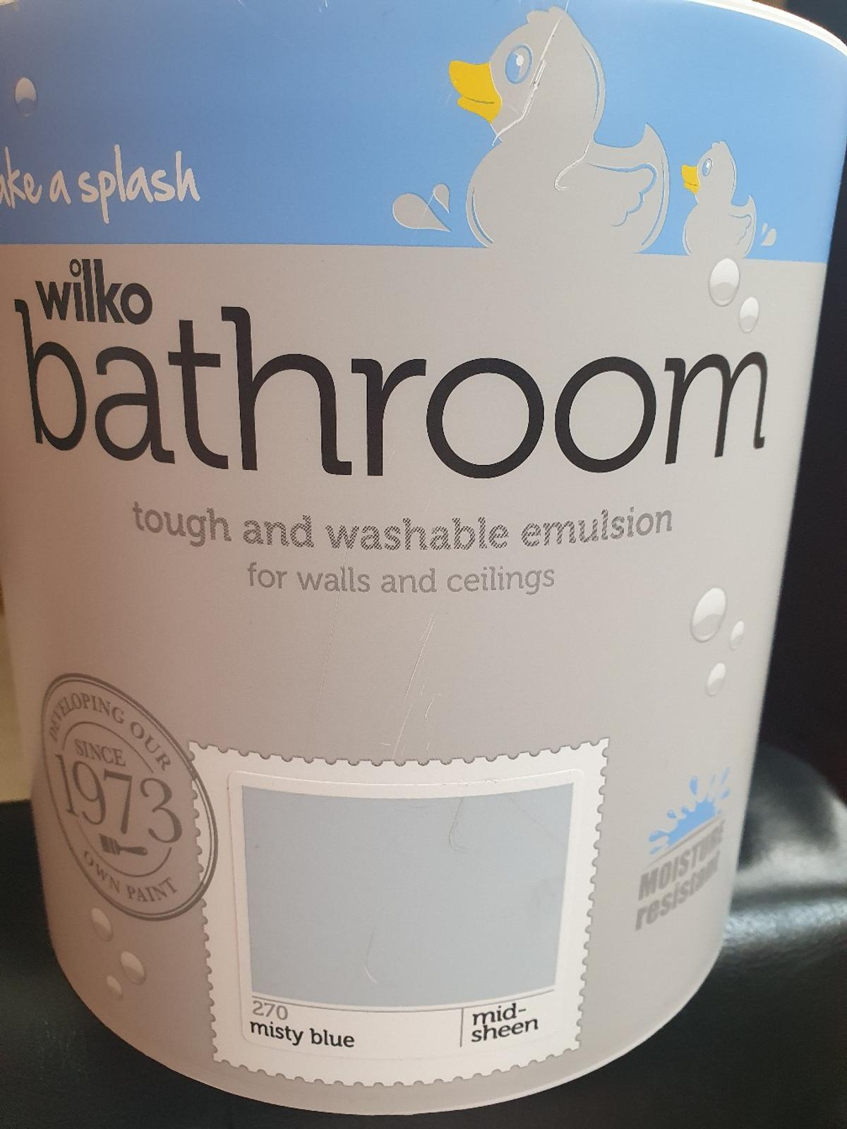 Brand new 2.5 l bathroom paint. Collection only.