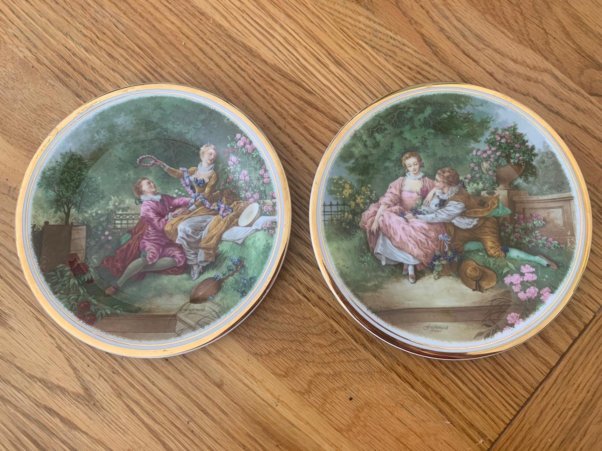 2 small Edwardian plates , collection streetly
