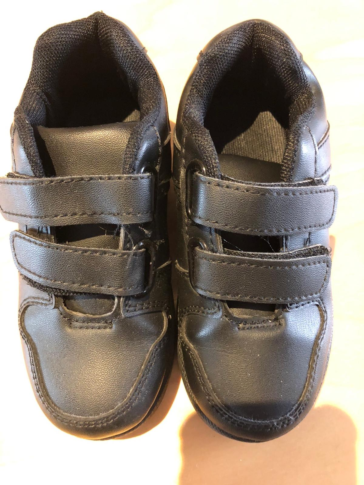 Boys black shoes good condition size 8 £6  Collection from Bolton Bl3 area