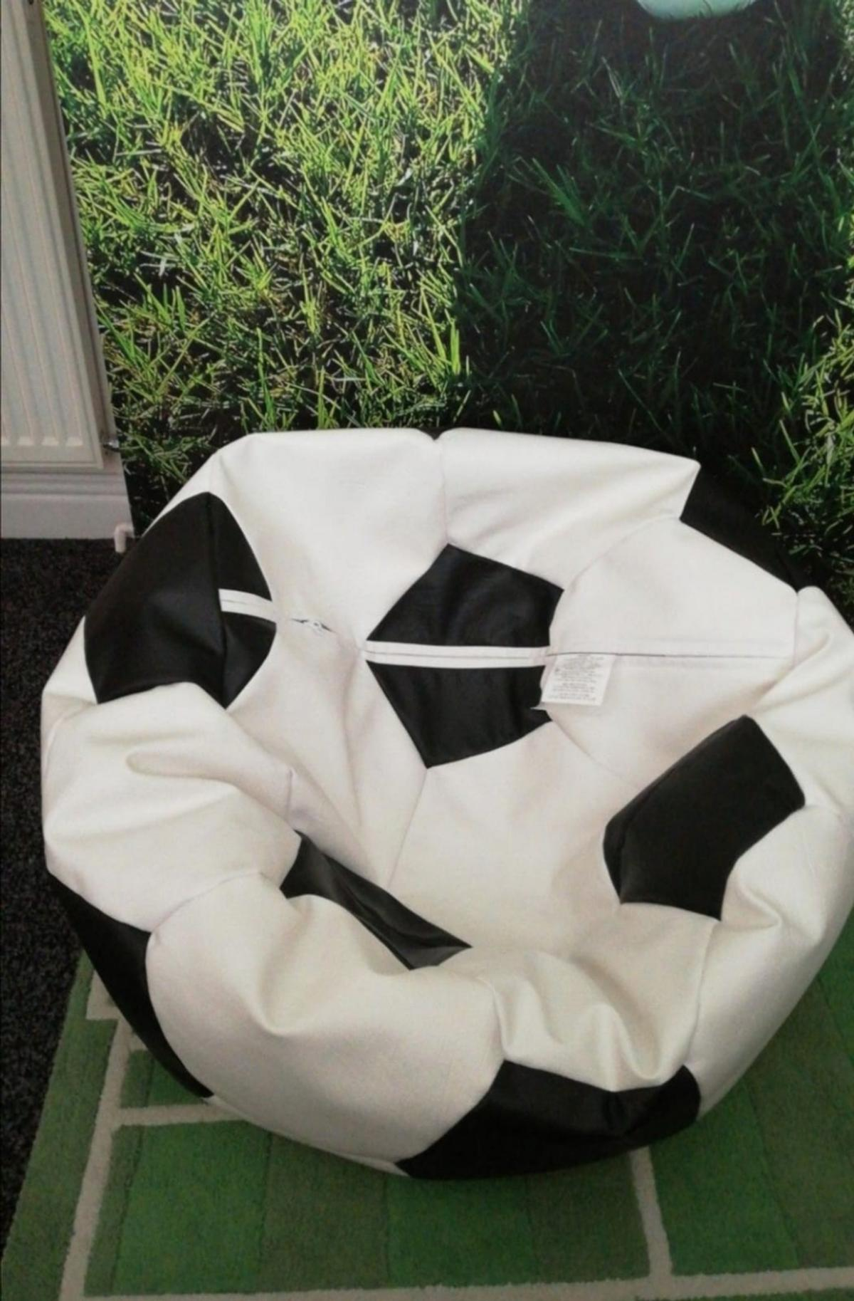Football beanbag Can refill if needed In good condition From a clean and smoke free home. Collection only social distancing