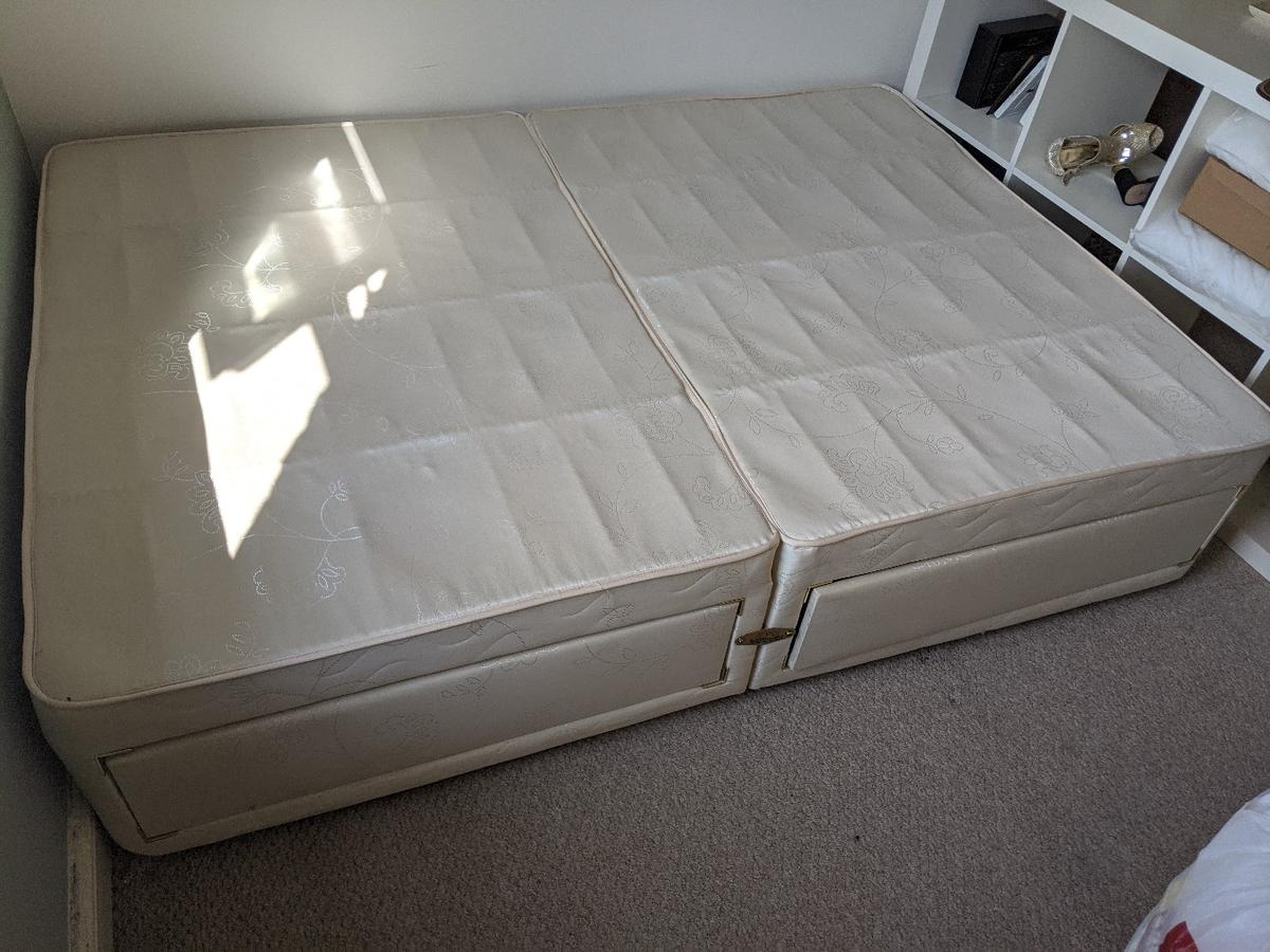excellent condition, had been well looked after. Standard double, 4 draws - comes in 2 parts so easy to get back home.  based in the LE67 area, pick up anytime  £50
