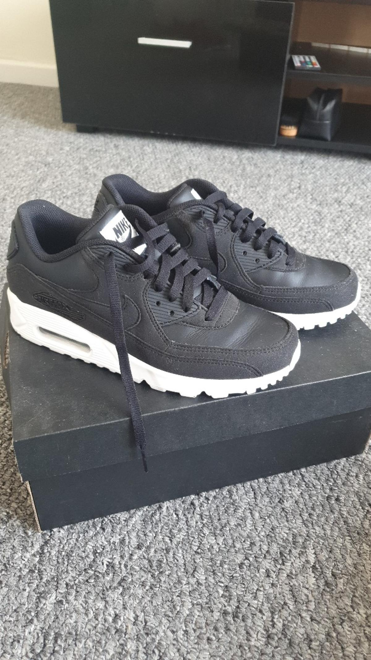nearly new nike airmax size 5. I custom made them for gym wore them once only. too busy with work hate to sell them but their just sat in a box not been worn would be perfect for someone else. one of kind custom made. open for offers nothing silly