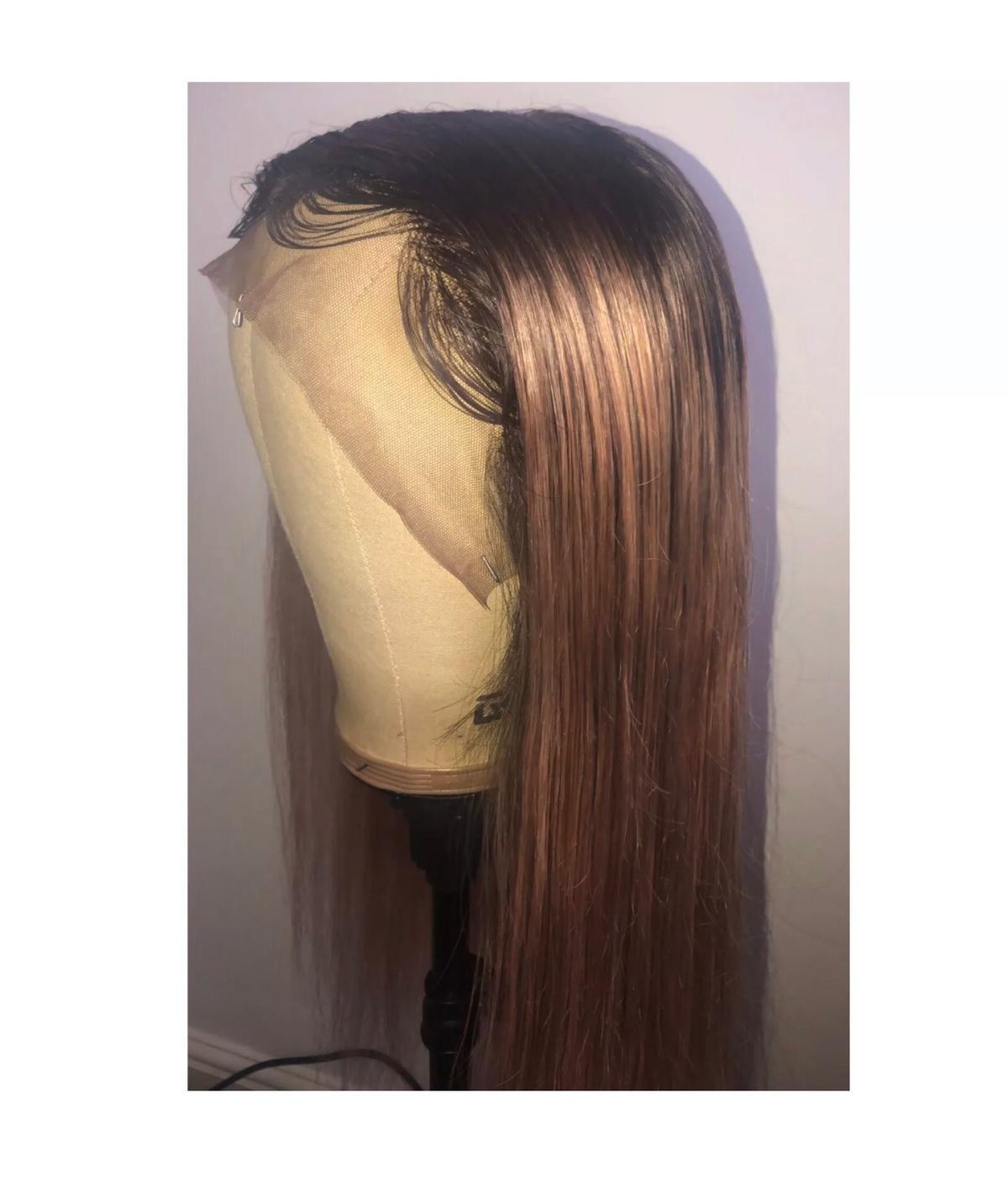 "100% Human Hair, Free Way Parting, Full Lace, Rose Gold Ombré Wig  ♥︎ Heat Resistant  ♥︎ Breathable Cap  ♥︎ 22""  ♥︎ £230"