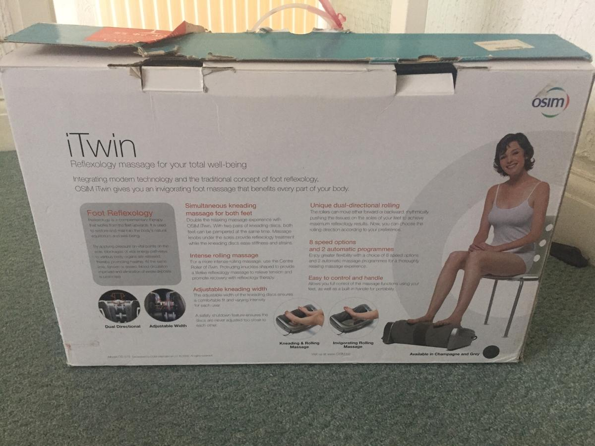 Foot massage machine Wellbeing See photos for all benefits  Rarely used. Removable fabric over rollers have been disinfected in washing machine  Free delivery and collection available in some SE20 / DA1 areas