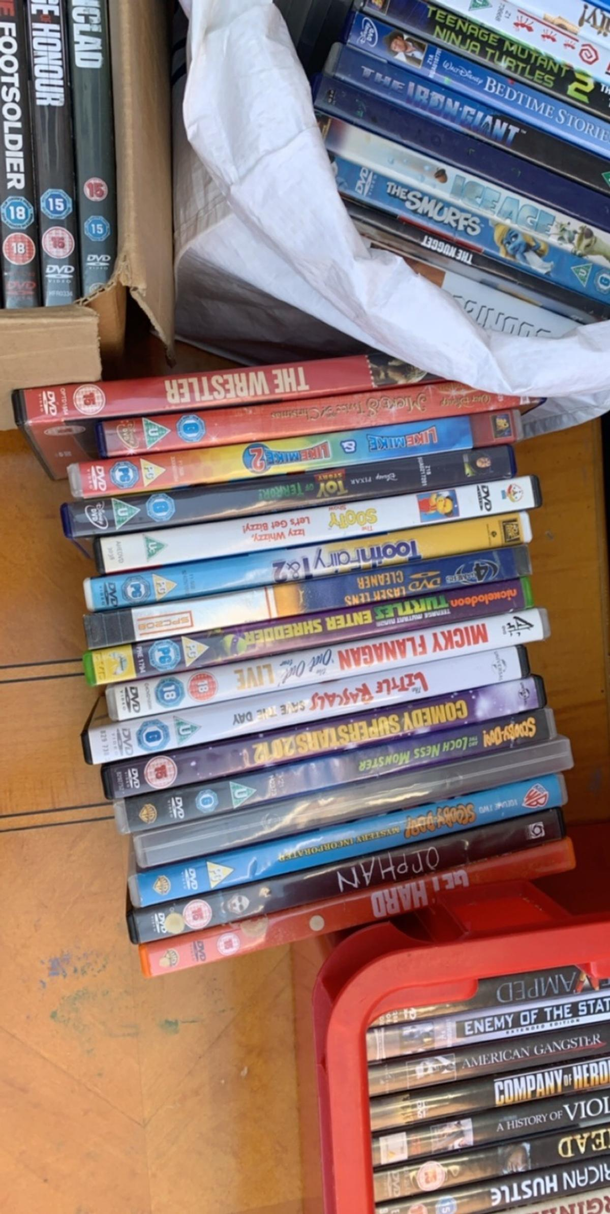 A job lot of dvds for sale all sorts of categories and some thrown in of pirates for free £50 Ono