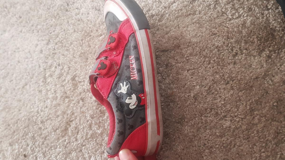 toddler boys Mickey mouse shoes. good used condition. selling because my son has outgrown them.