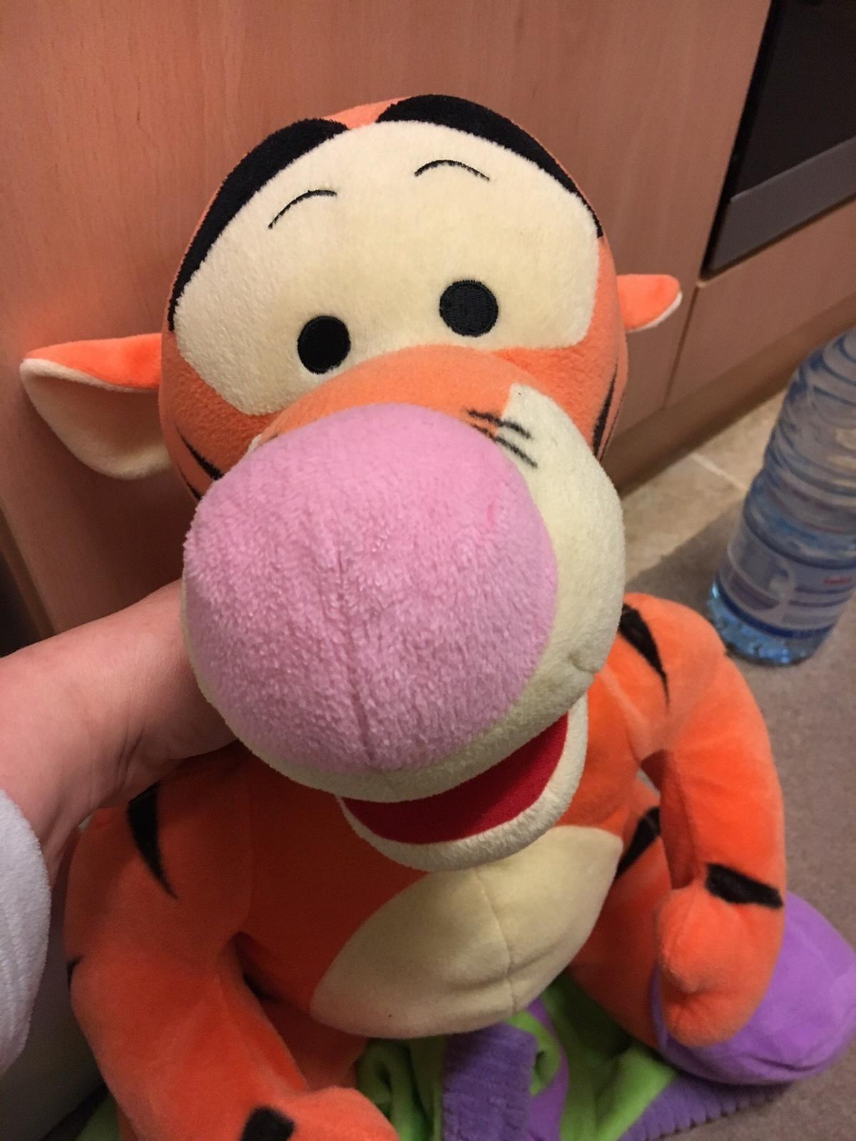 "Used in good condition. His head tend to be in a side instead of straight. Dressed in bathroom robe . My 2 years old loved to put on «tiggers dress ""  Toy Size of the toddler.  Contactless Pick up Norbury sw16"