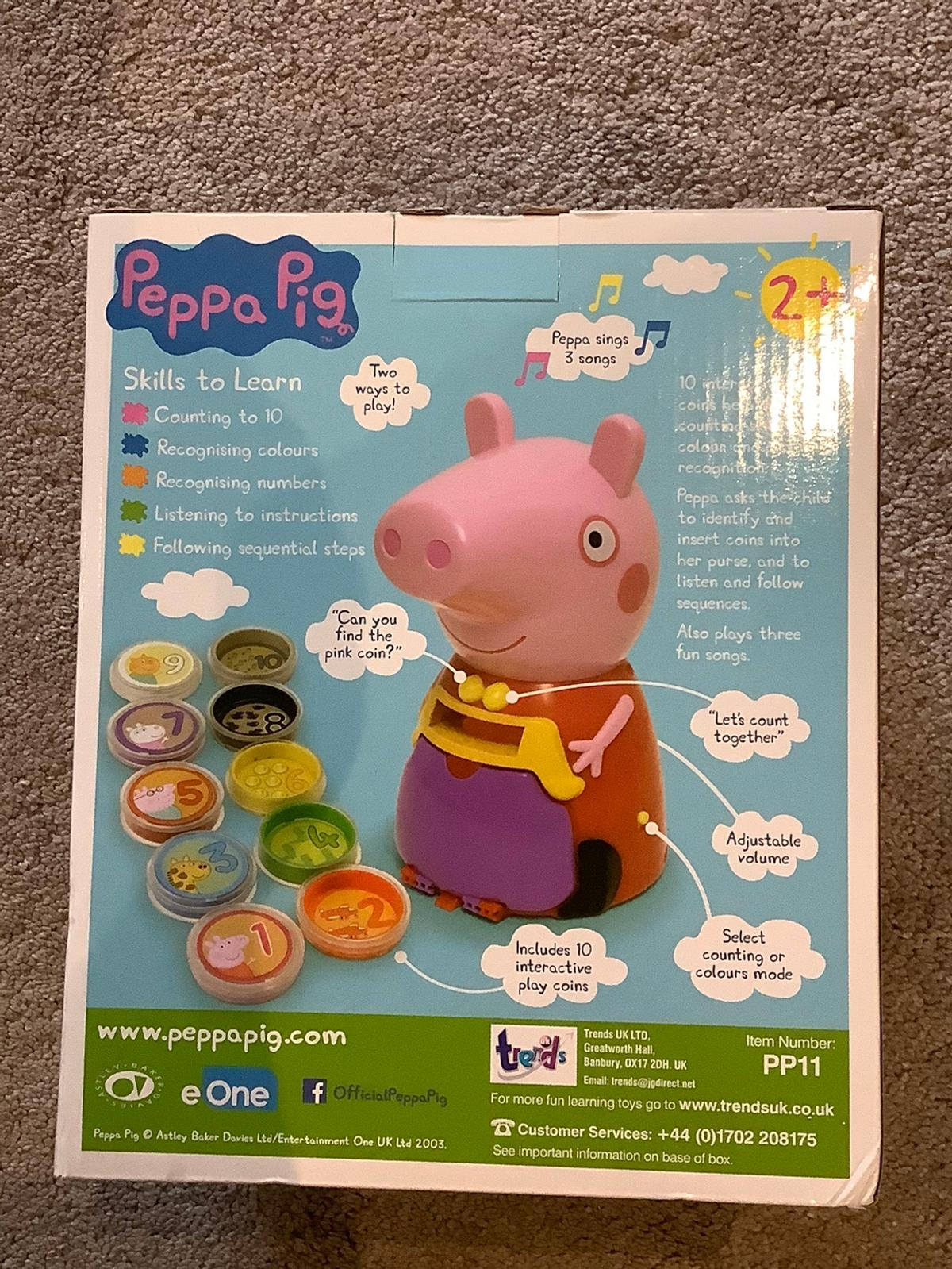 Brand new in original packaging. For ages 2+  Includes 10 interactive numbered coins. See above pictures for functions/features.
