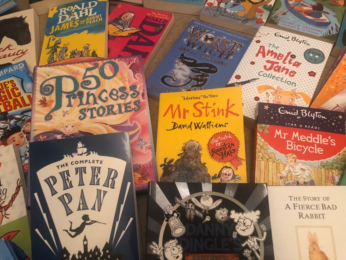 A set of 30 children's books varying from popular titles through to educational texts. Full set of 30 to be sold.  in excellent condition, like new.  Collection only. Safe contact free collection guaranteed.
