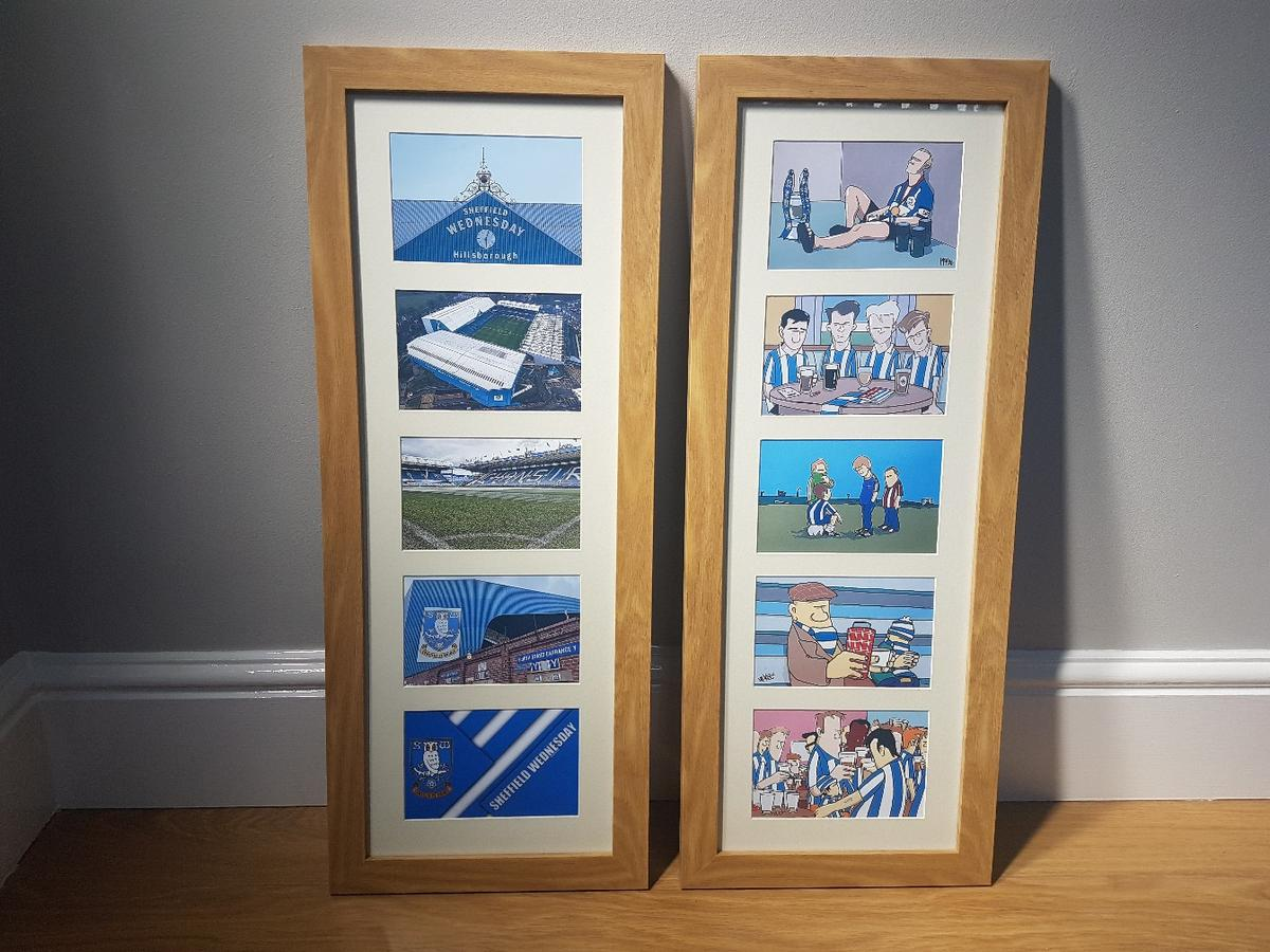 I'm selling a pair of Sheffield Wednesday multi frame pictures they are new and have never been put up
