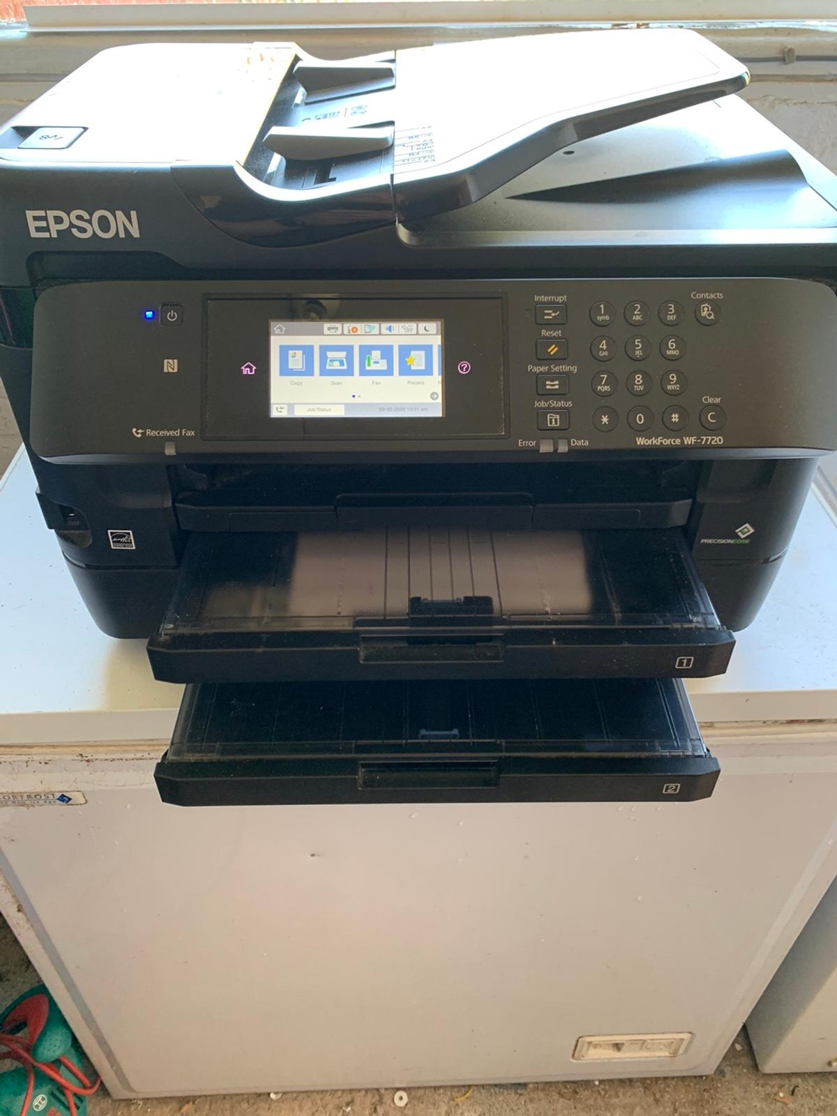Epson work force 7720 printer A3 and A4 scanner with WiFi Two cassette printer 5 sets of ink 3 genuine Epson 2 comparable Only a few months old  Collection only