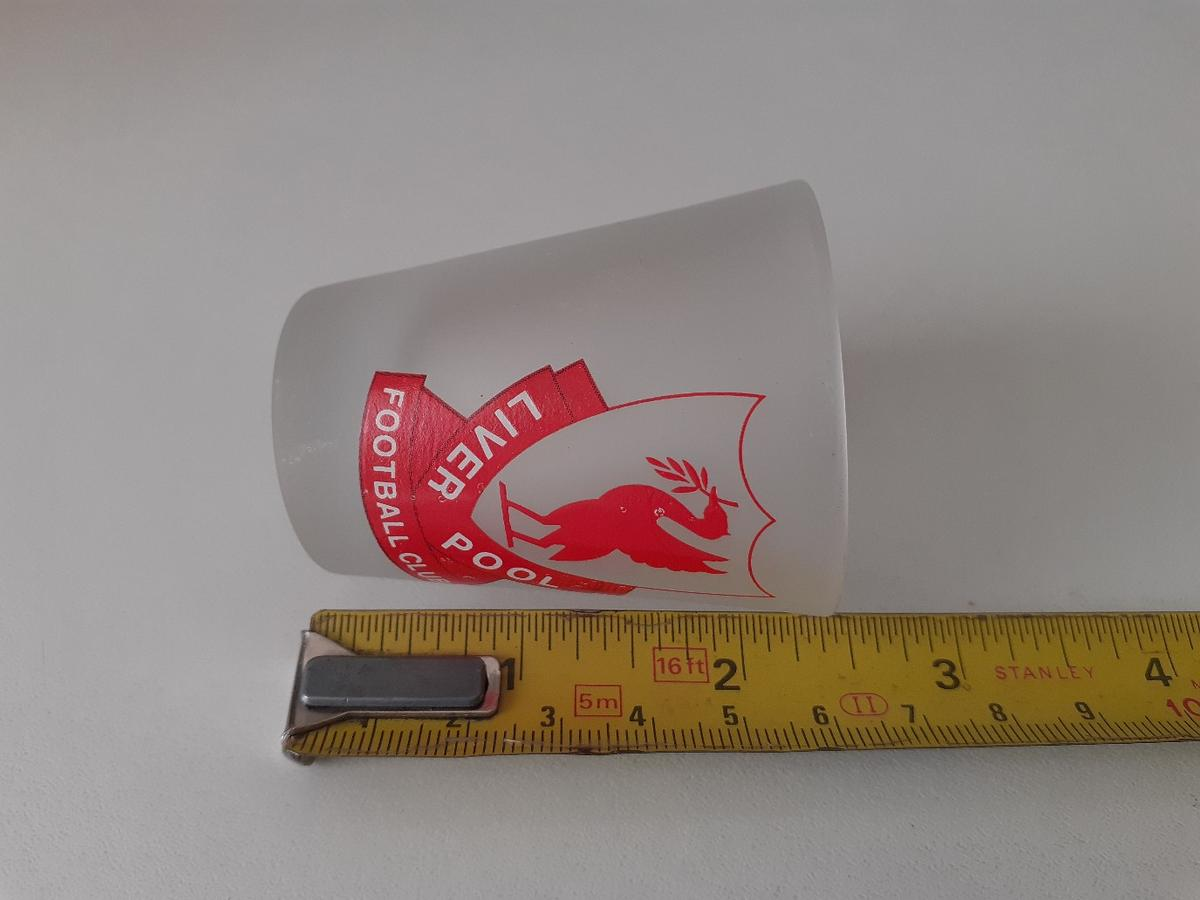 SMALL LIVERPOOL GLASS. NEVER BEEN USED. SEE PICTURES FOR SIZES.