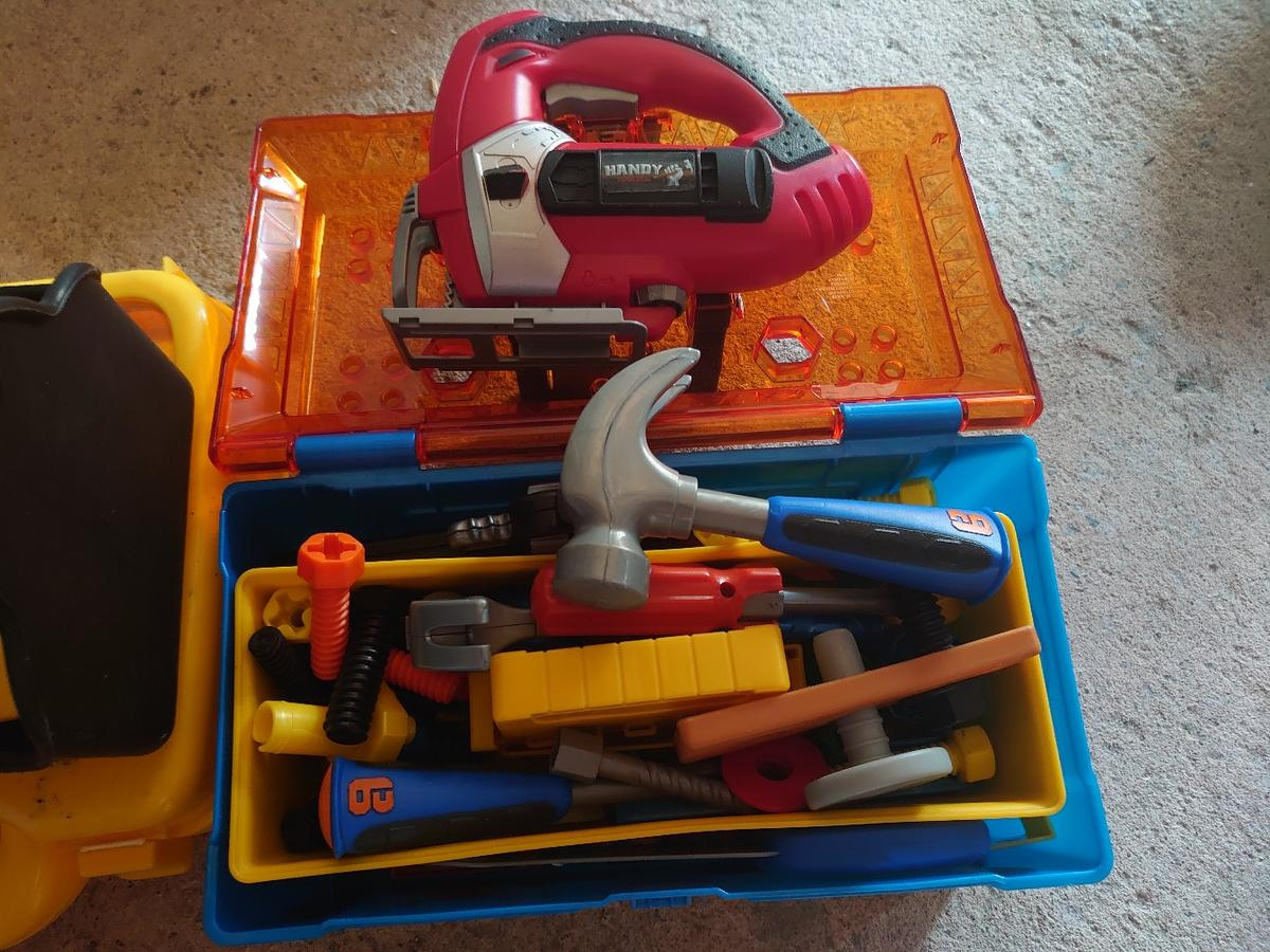 mixed Bob the builder and worx tools