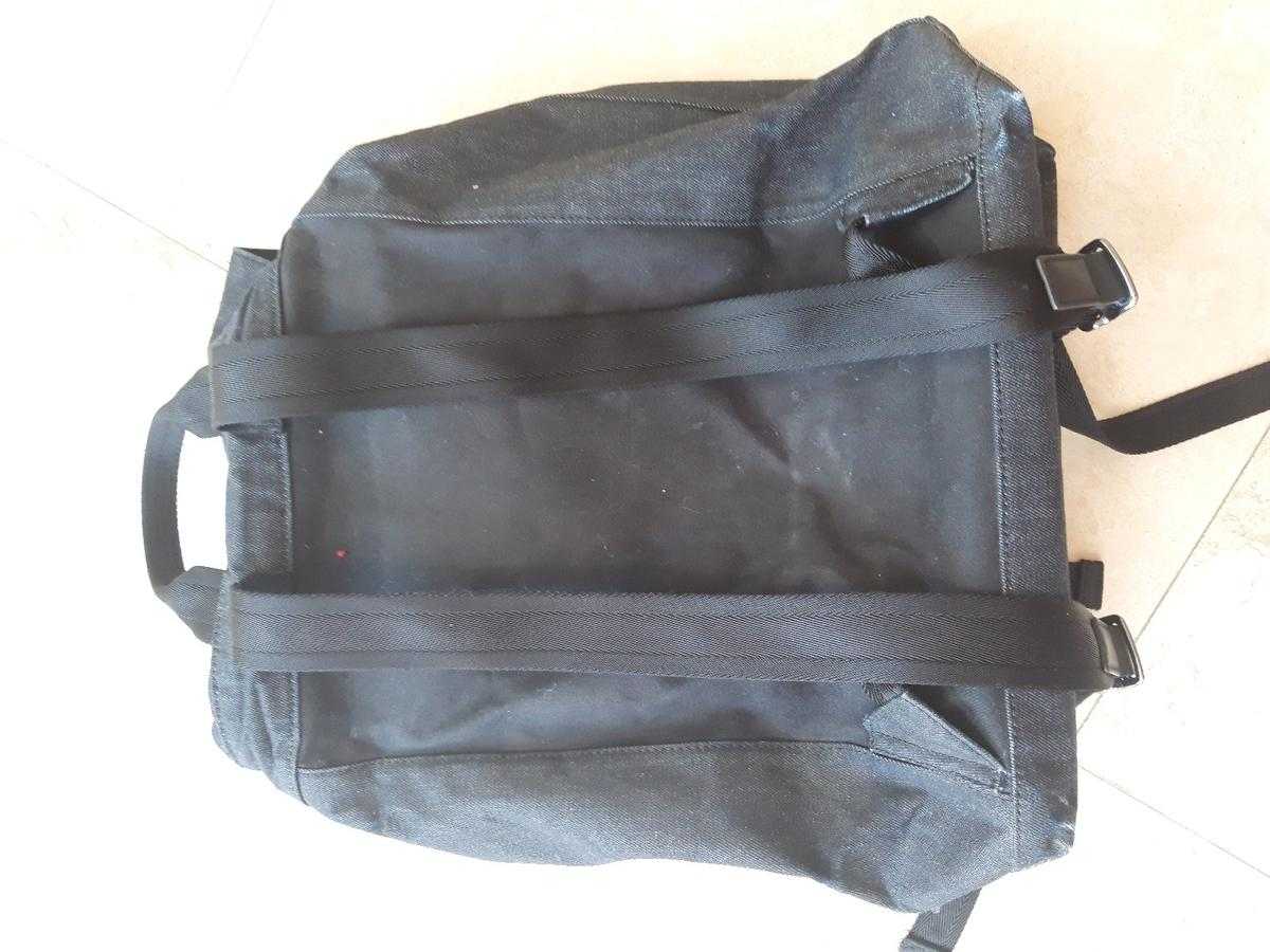 Denim backpack from Diesel.  The Volpago rucksack sells for anywhere between £140 and £175 online.  Very good quality, strong bag. Has had very little wear and is still as good as new.