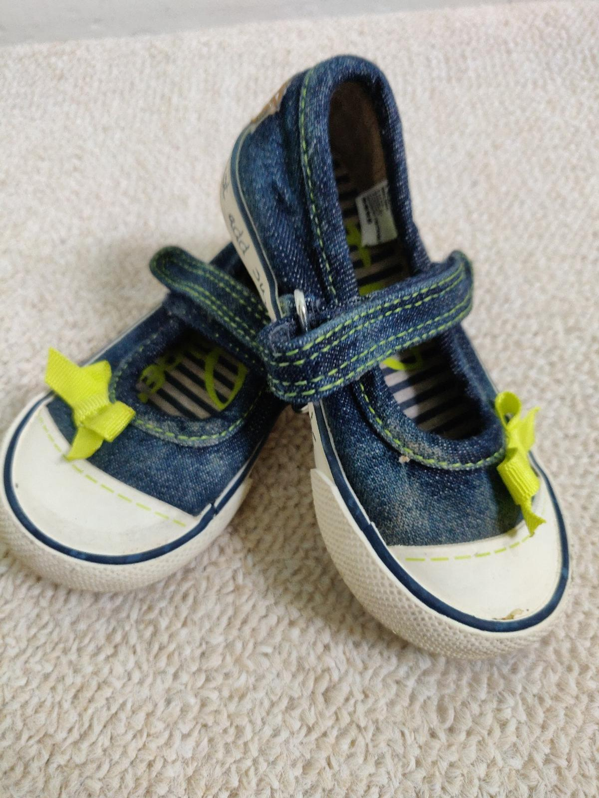 Toddler pumps from next size 4. Velcro fastening.. excellent condition from a smoke free and pet free home. Safe collection Wallasey CH45 or will post for additional cost. PayPal accepted