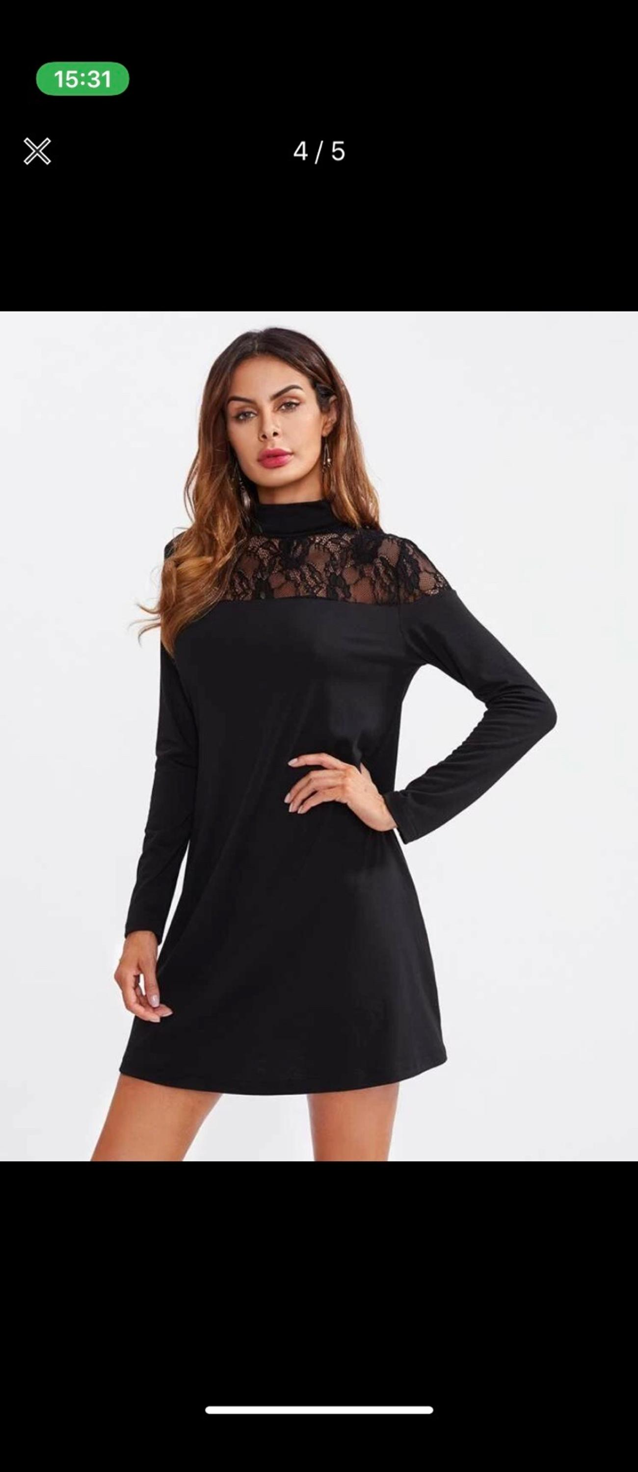 Black Lace Dress Size Medium Brand new No offers plz Collection only or postage £3