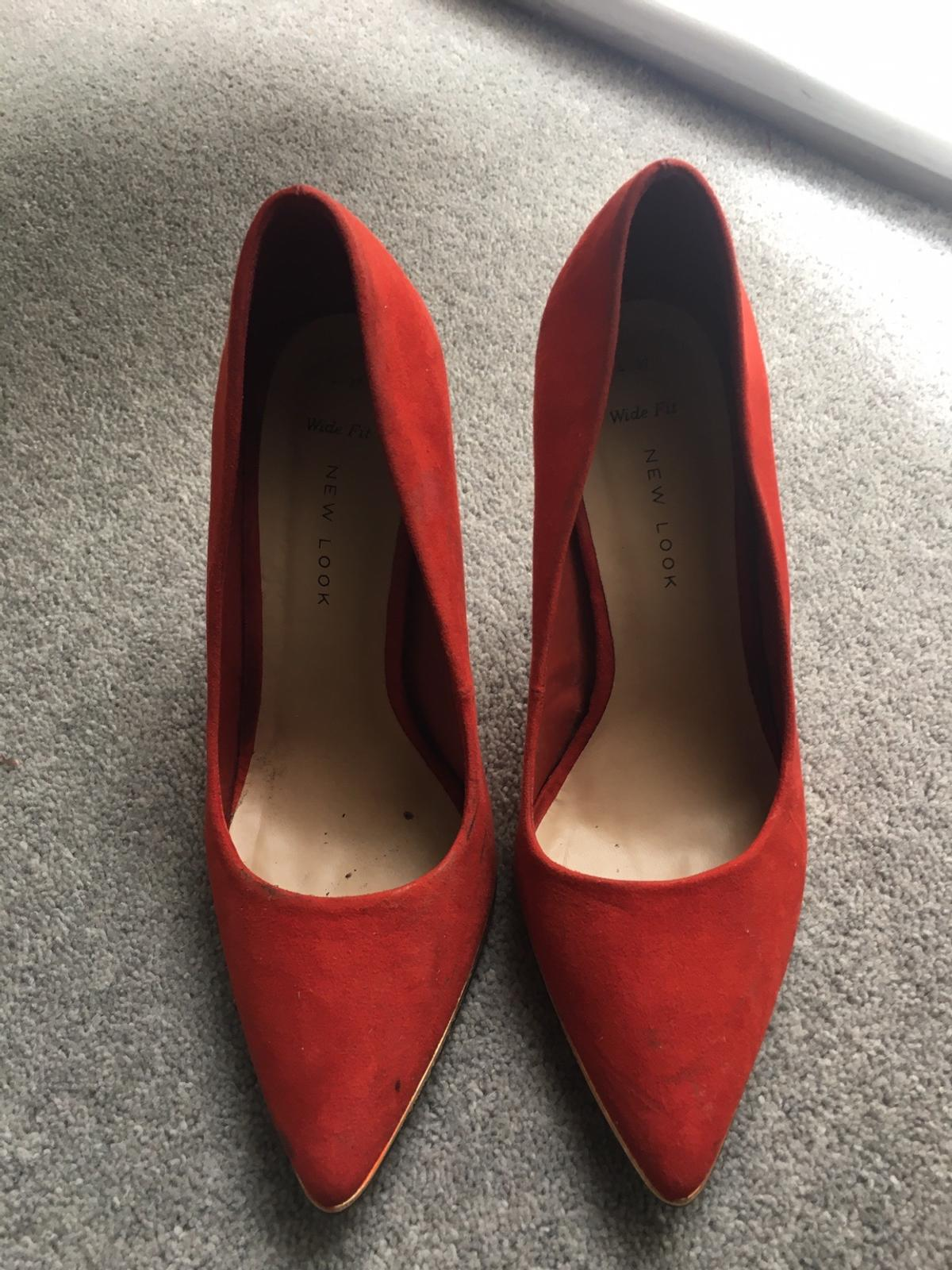 New look red high heels size 4 (37)