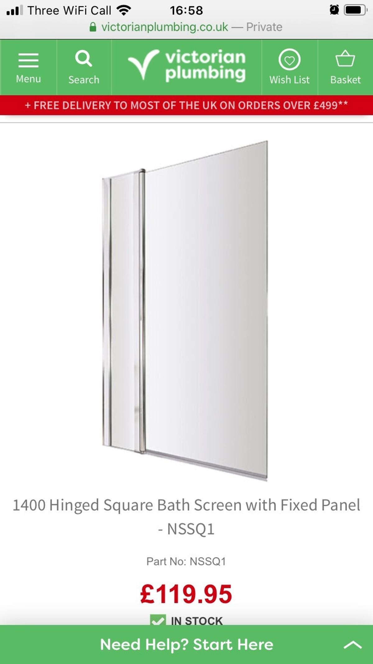 Anyone looking to change the bath screen while at home? We ordered the wrong model and cannot return anymore... still in box. Selling for £70 normal price is £120 Collection N11 or can delivery if not too far.