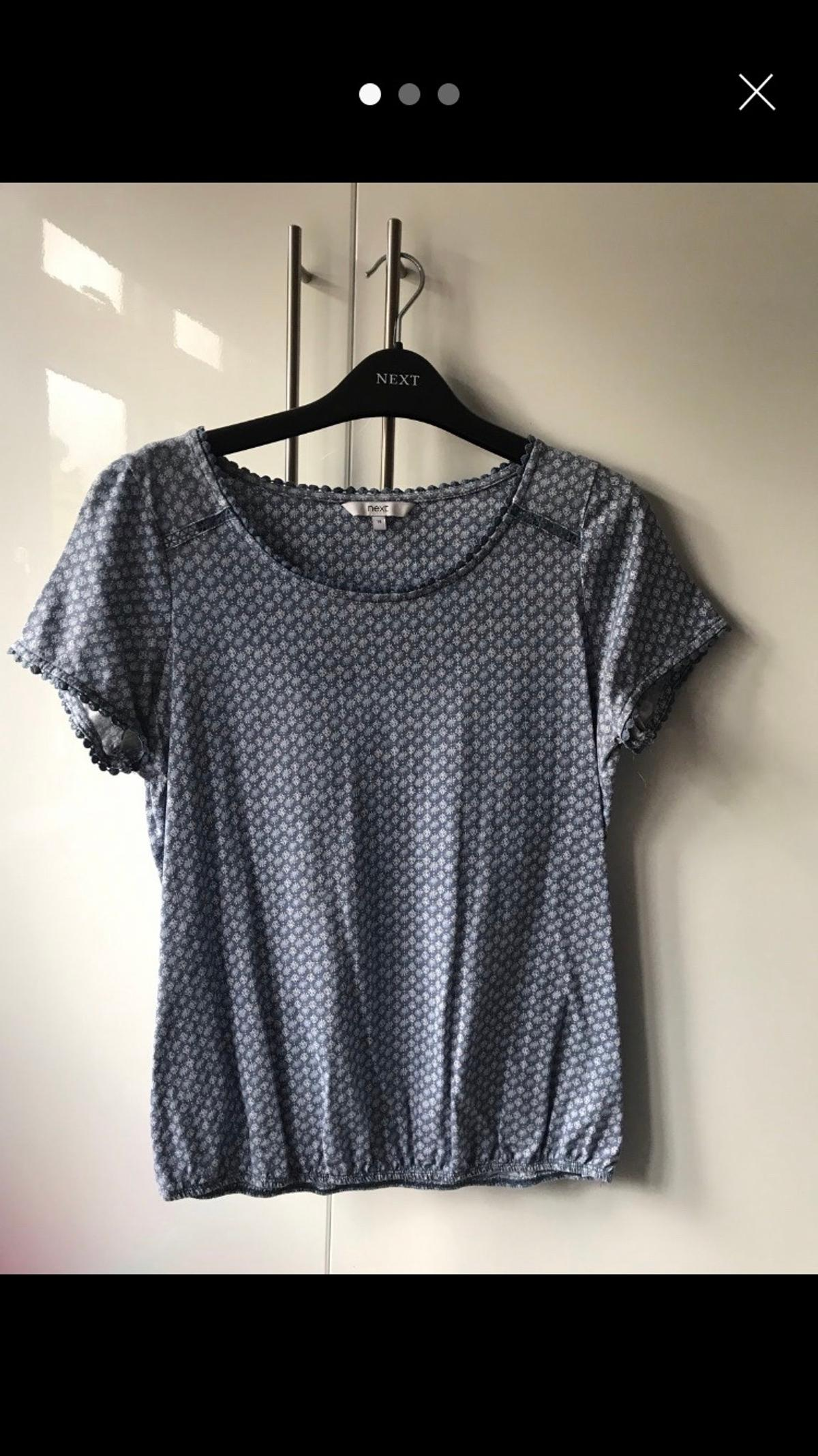 Next ladies pale blue T-shirt size 14 only worn twice  Collection only smoke free home SE9 New eltham Can do contactless collection