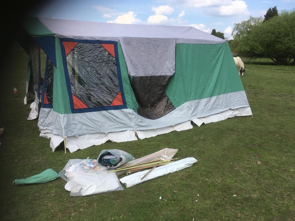 Tent and accessories only for sale as it to. Big for what we need same very cheap