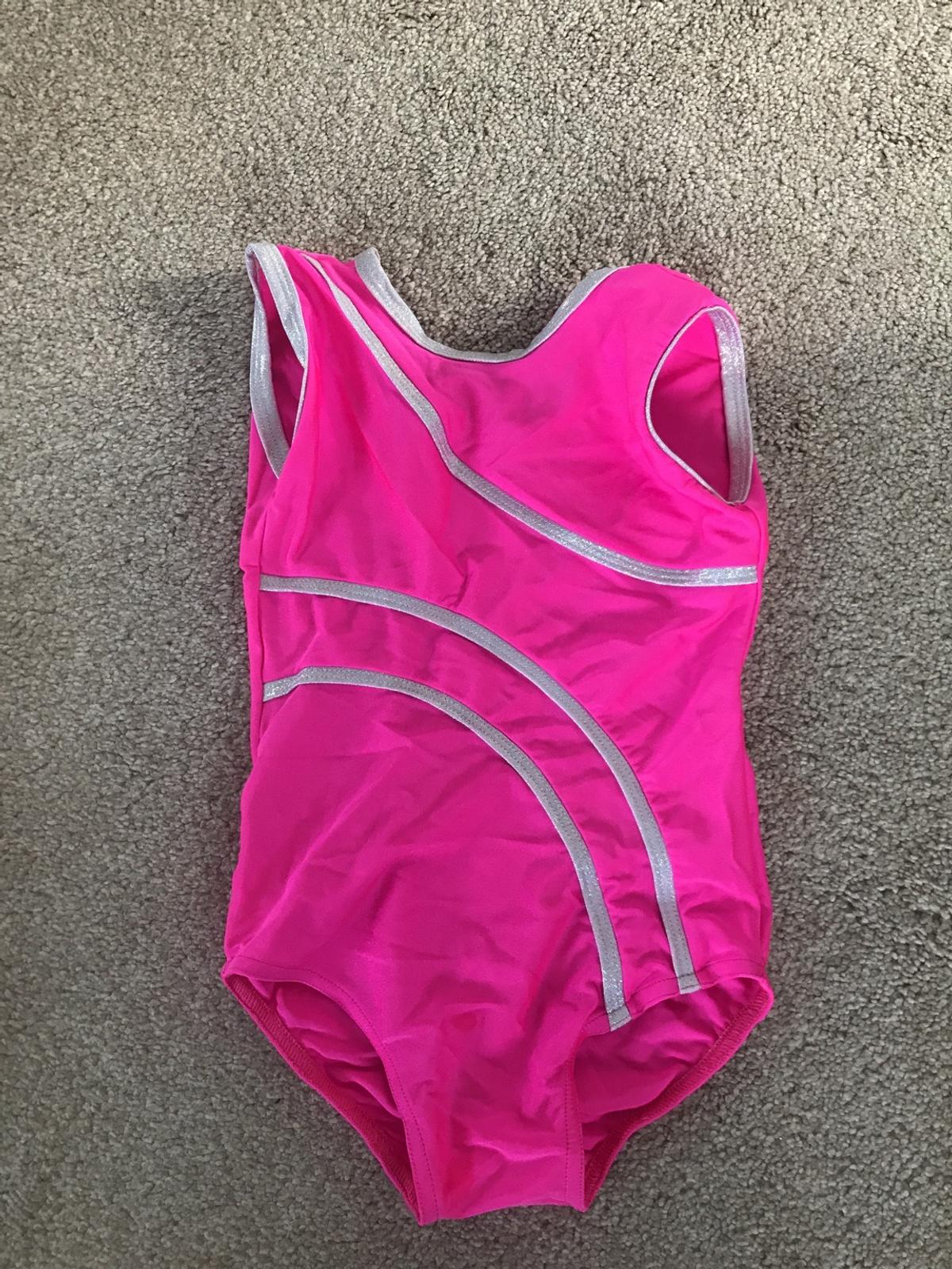 Size 1 Tappers and pointers leotard Lovely pink and sparkly silver  Can post extra £2.00