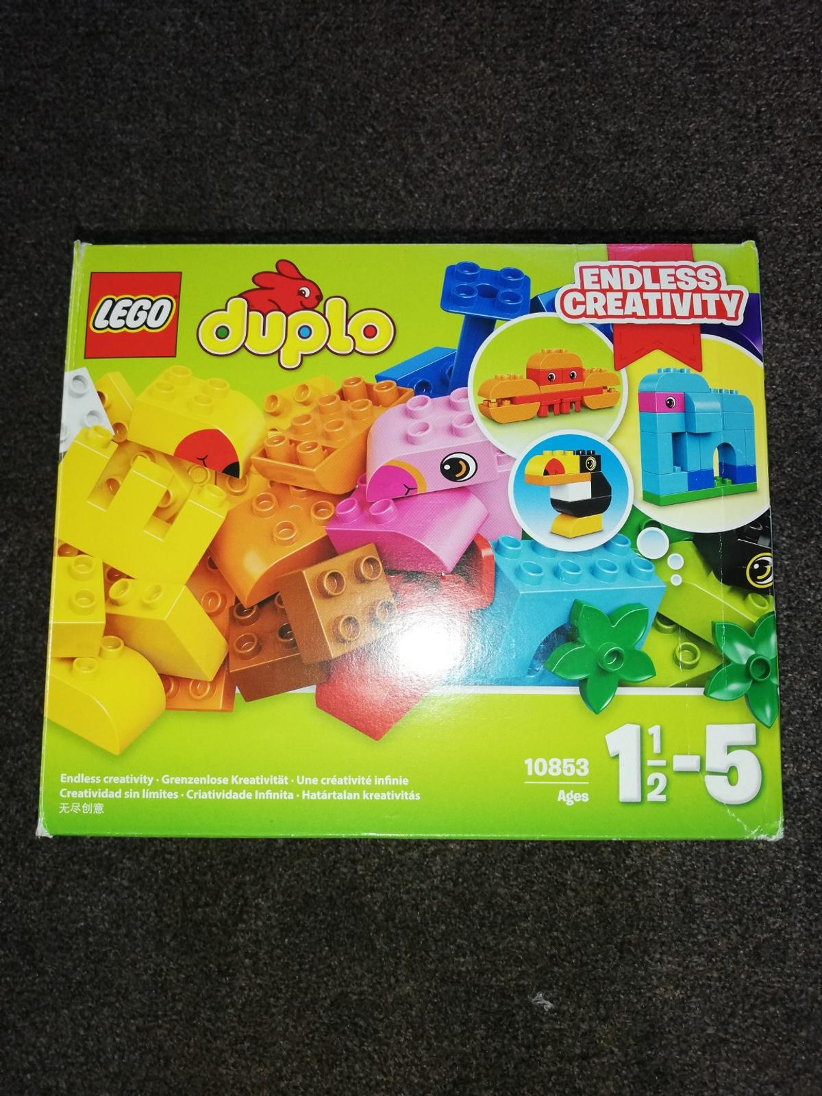 Duplo set. Very good condition. All pieces are there. Also includes some cards to help build the different animals.
