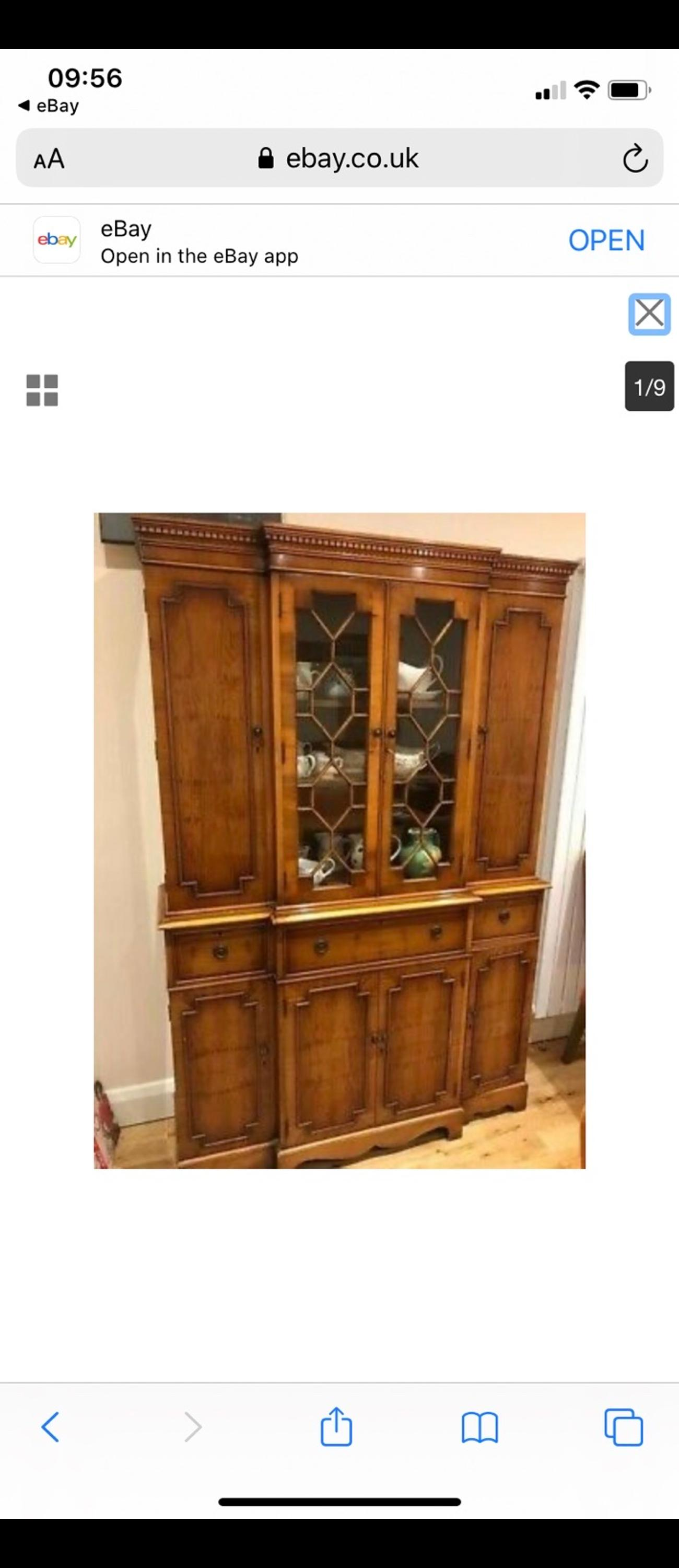 Beautiful Georgian-Style Antique Cabinet with Mahogany Finish in Great Condition!  Selling on someone's behalf as it was too big to be donated to a charity shop. A money donation to the Princess Alice Hospice will be made after the sale.  It's a gorgeous cabinet in amazing condition, nothing to note other than very light signs of wear and tear, and the fact that the top drawer currently blocks when about half open - I'm guessing it's fixable but haven't wanted to force it.  Cabine