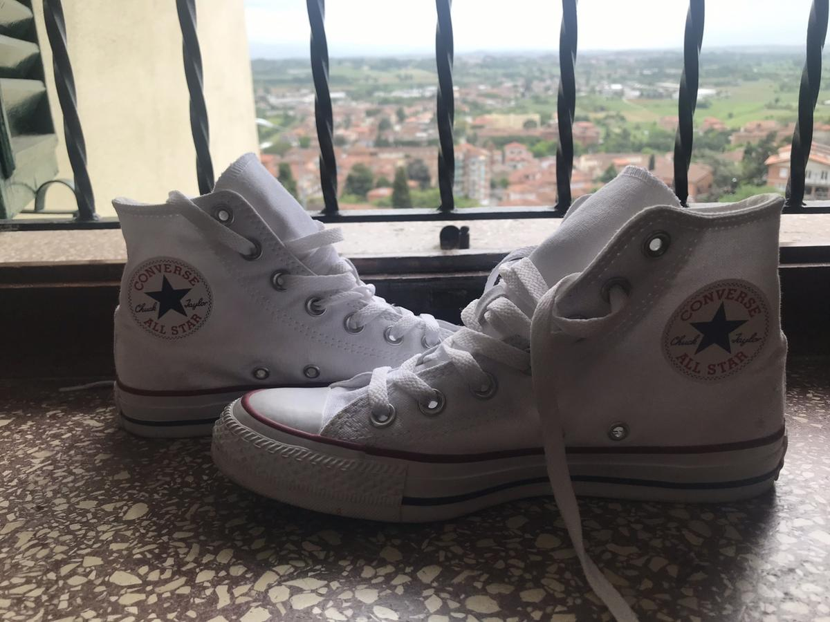 converse bianche nuove