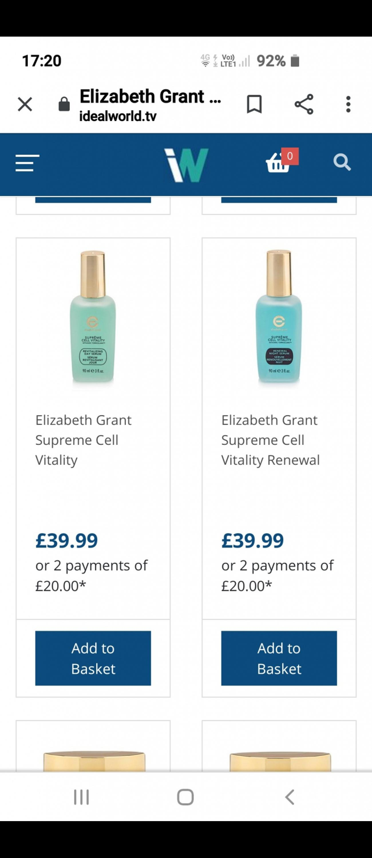 Supreme cell vitality victory eye serum 45ml also supreme cell vitality revitalizing day serum 90ml and supreme cell vitality renewal night serum 90ml..the two large size are rrp £39.99 each and the small size rrp is £29.99 totalling £110..will accept £15 each for the bigger size and £10 for the small size or £35 for all of them