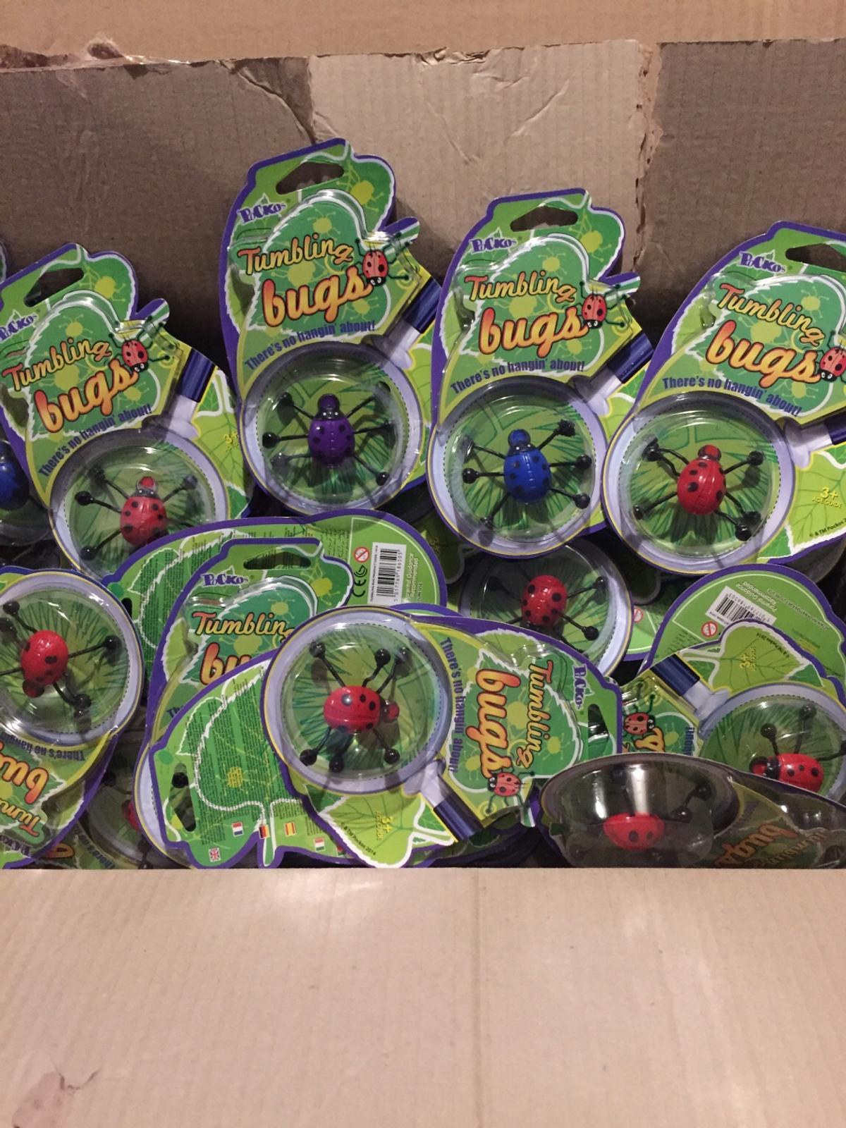 Tumbling bugs there's no hangin about we have red, blue, or purple £1 each or 2 for £1:50
