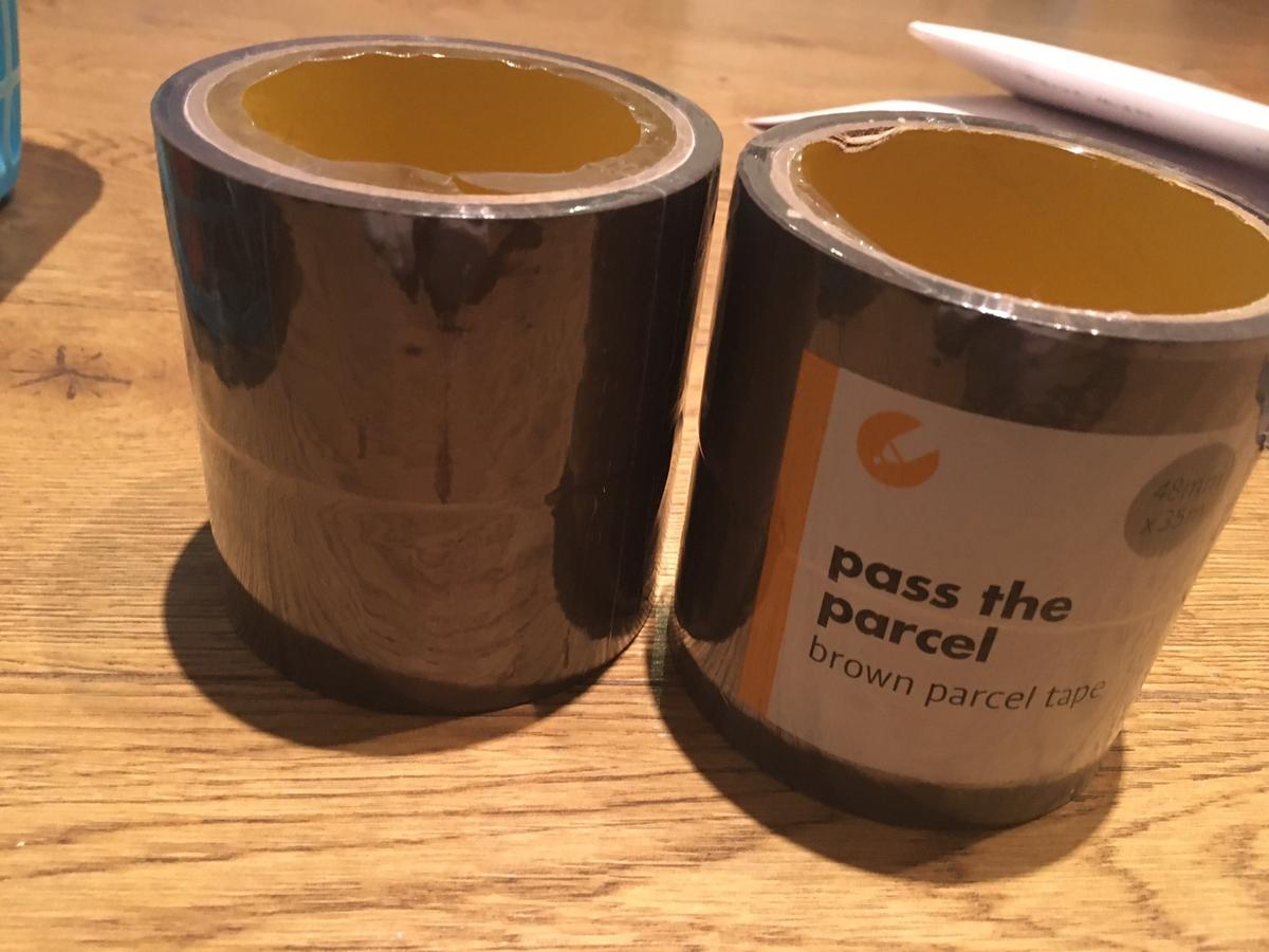 Pass the parcel - Brown parcel tape x2 new packets  Pick up only from SW16  See my other items - house clearance