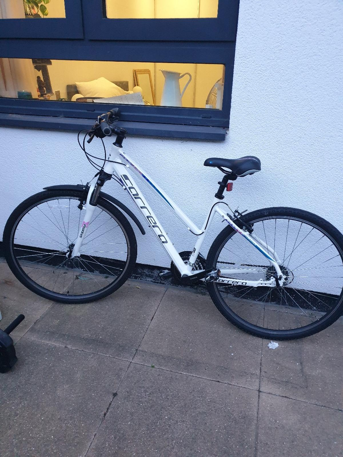 "Bike is only 1 year old, and has been used for only one summer so it's in a good condition. Original price £275.  Bike size is small / 16"" (I am 5'3 / 160cm)"