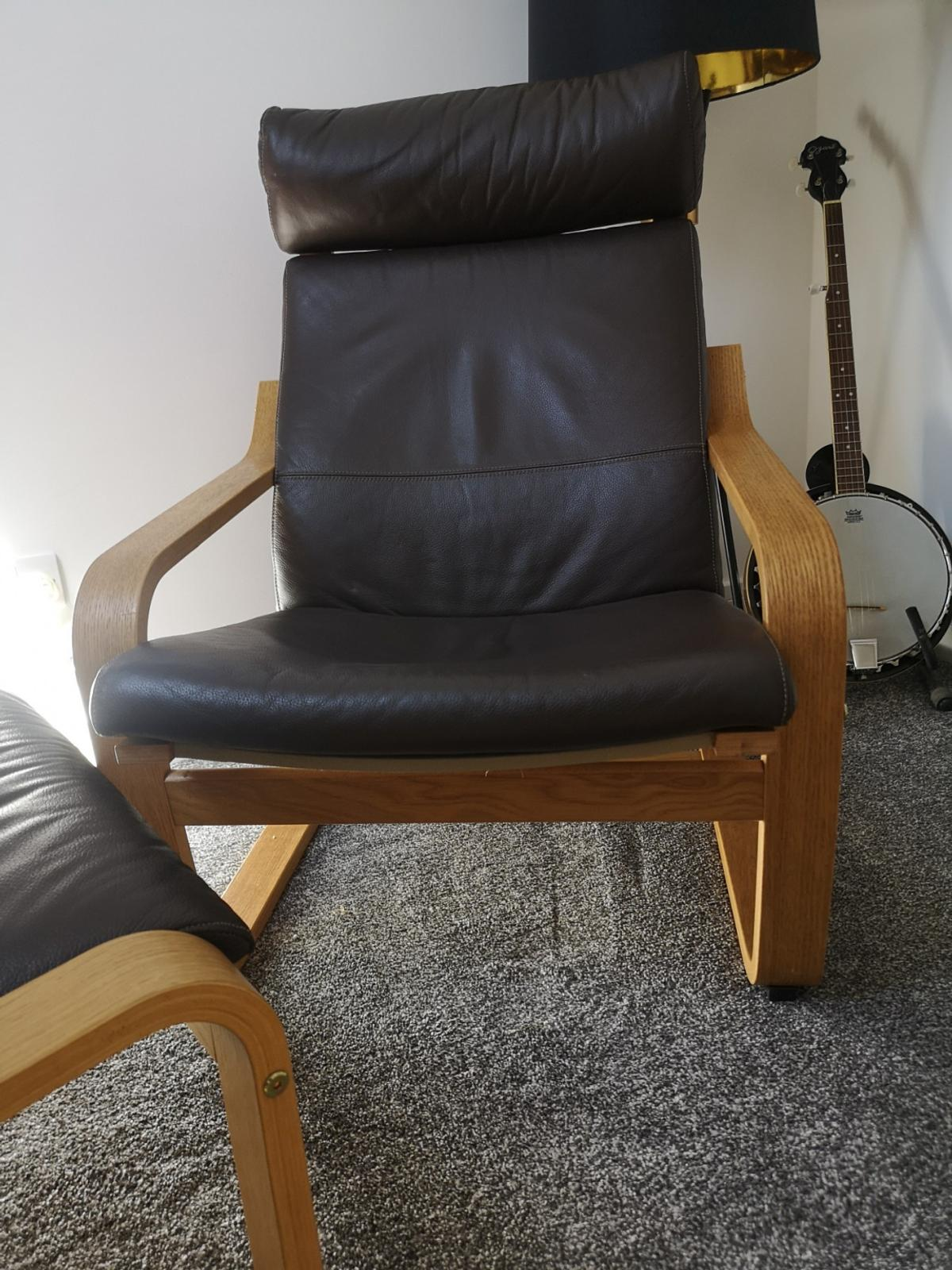 Brown leather poang chair from IKEA in very good clean condition. Extremely comfortable. Will dismantle for easy collection if needed.