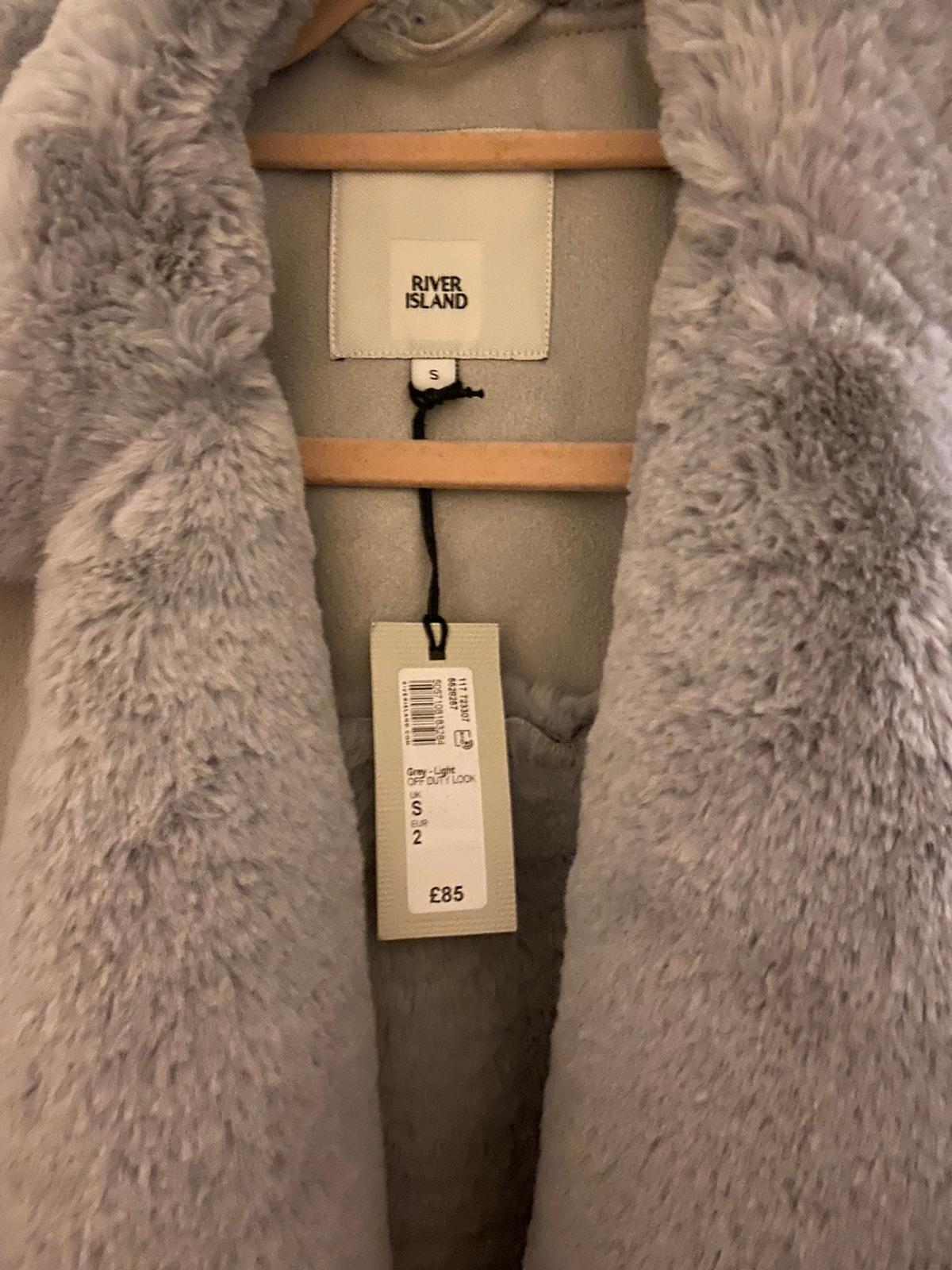 Grey River Island Coat, NWT, Size small. RRP £85. Open to offers.