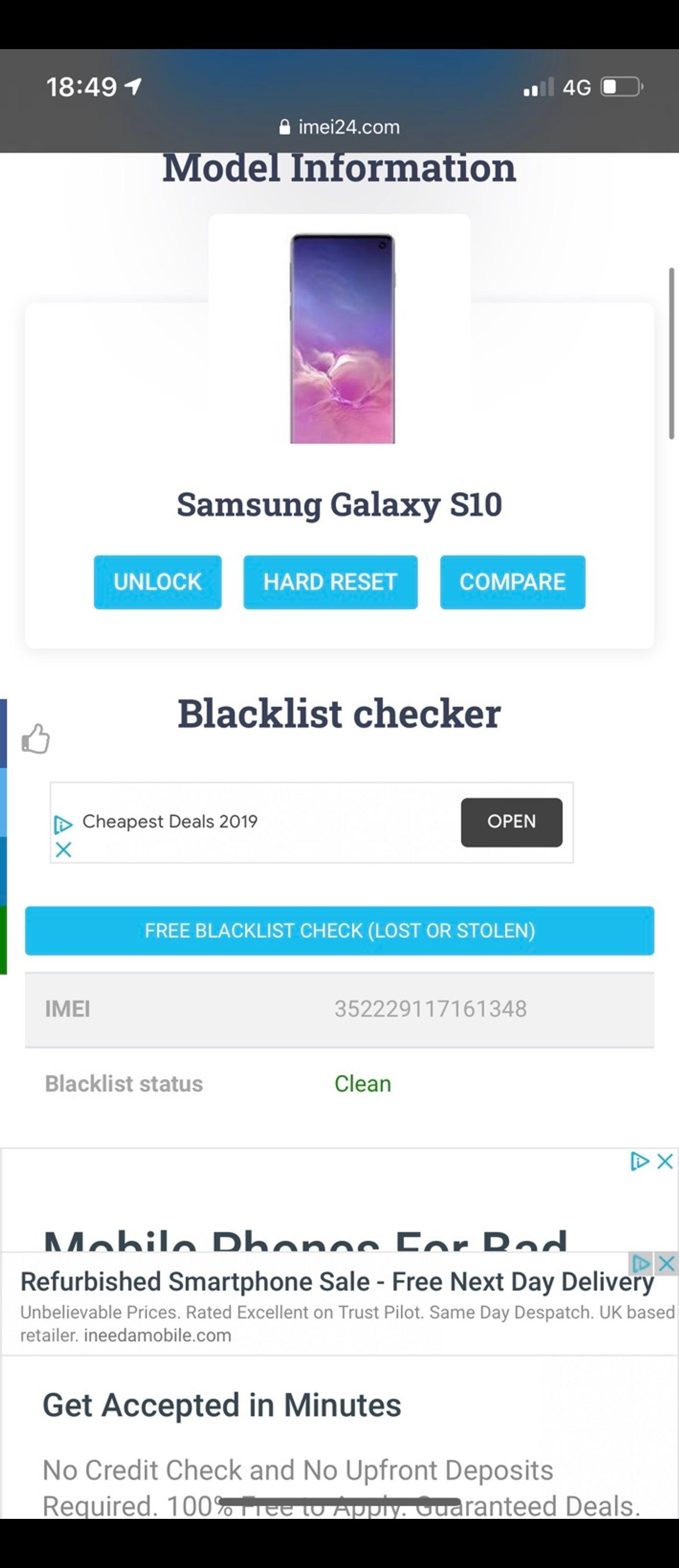 I braught this Samsung s10 as it was listed as unlocked via the Facebook market 4 days ago , I paid 350 for it but it's not reading my three sim. I need a phone that works on three so I purchased another phone. Here is my mint Samsung s10 not a single scratch or mark and still has screen protector. It's 128 gb and dual sim. Also device care is 100!! I'm selling for 250 or very best offer as I'm unable to use this phone. I've removed my google account and it's ready to set up. Deliver local
