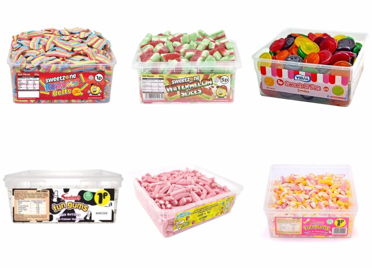 All of sweets are £6.99 each I've got my own website link you can order from there, no collect& only postage from my website