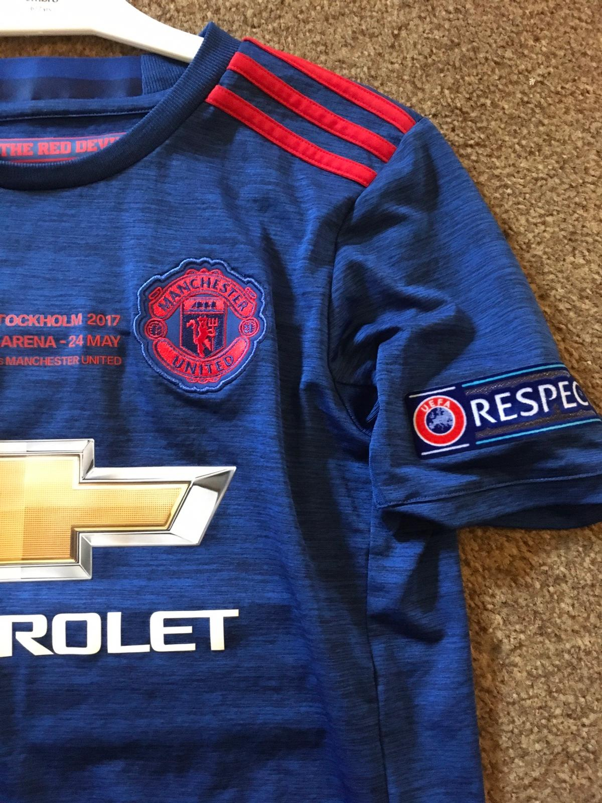 Manchester United kit kids age 11-12 years POGBA #6 shirt and shorts set, shirt tag has fell off but shorts still has shop tags on, brand new tagged unworn stunning looking kit, Europa league final 2017 p&p £2.99