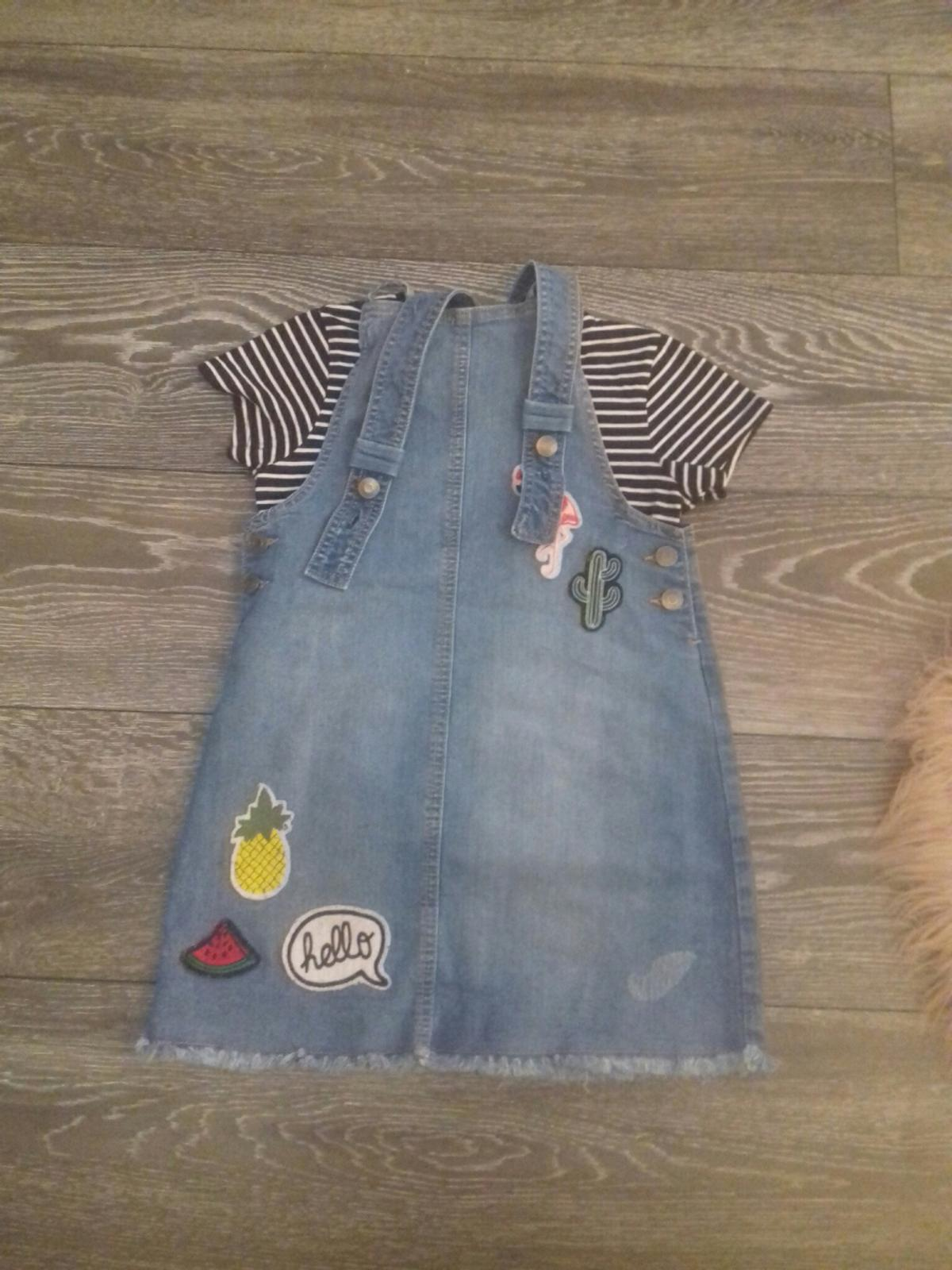 girls jeans dress and top